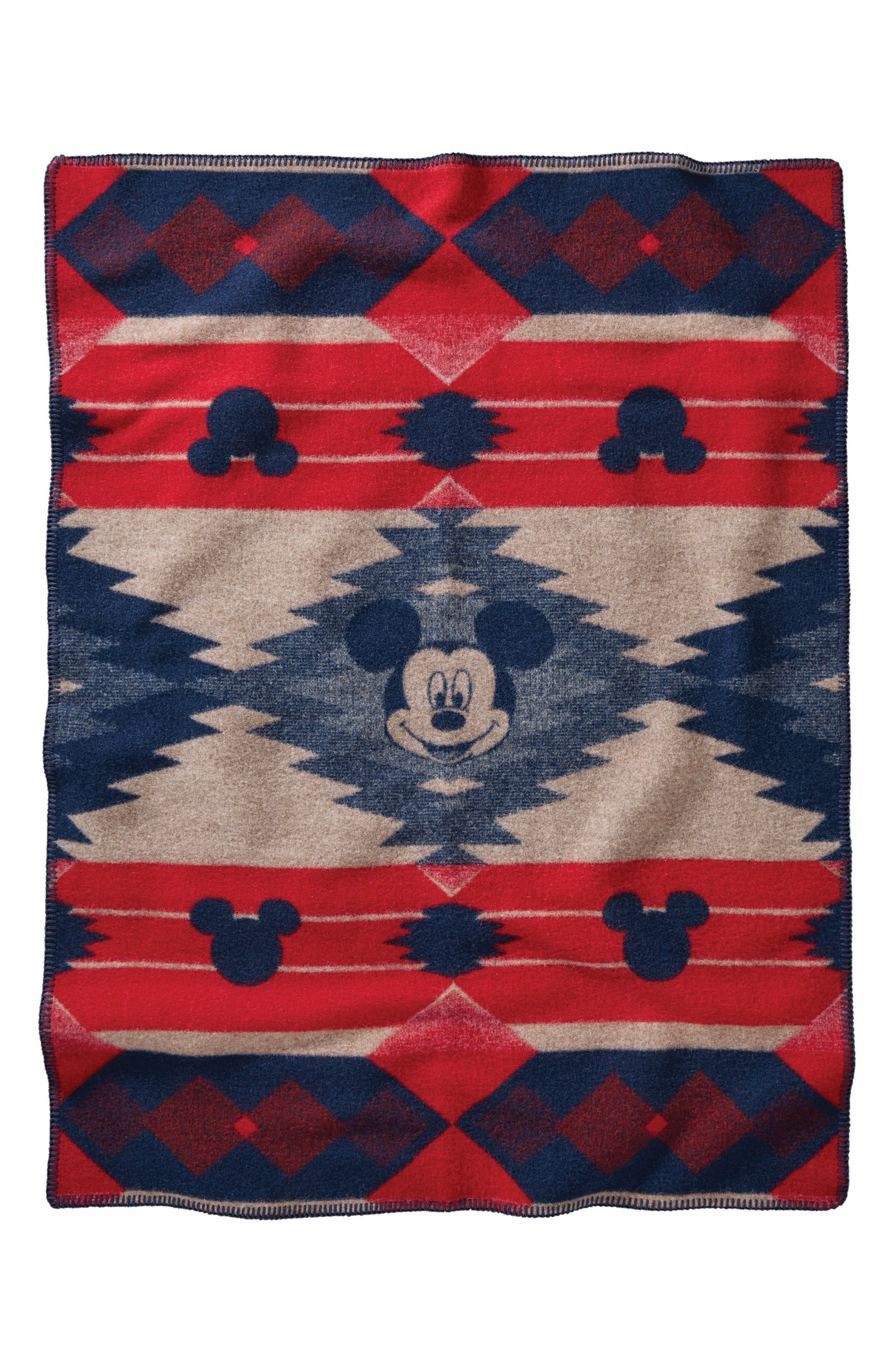 Disney - Mickey's Frontier Crib Blanket,                             Main thumbnail 1, color,                             Red