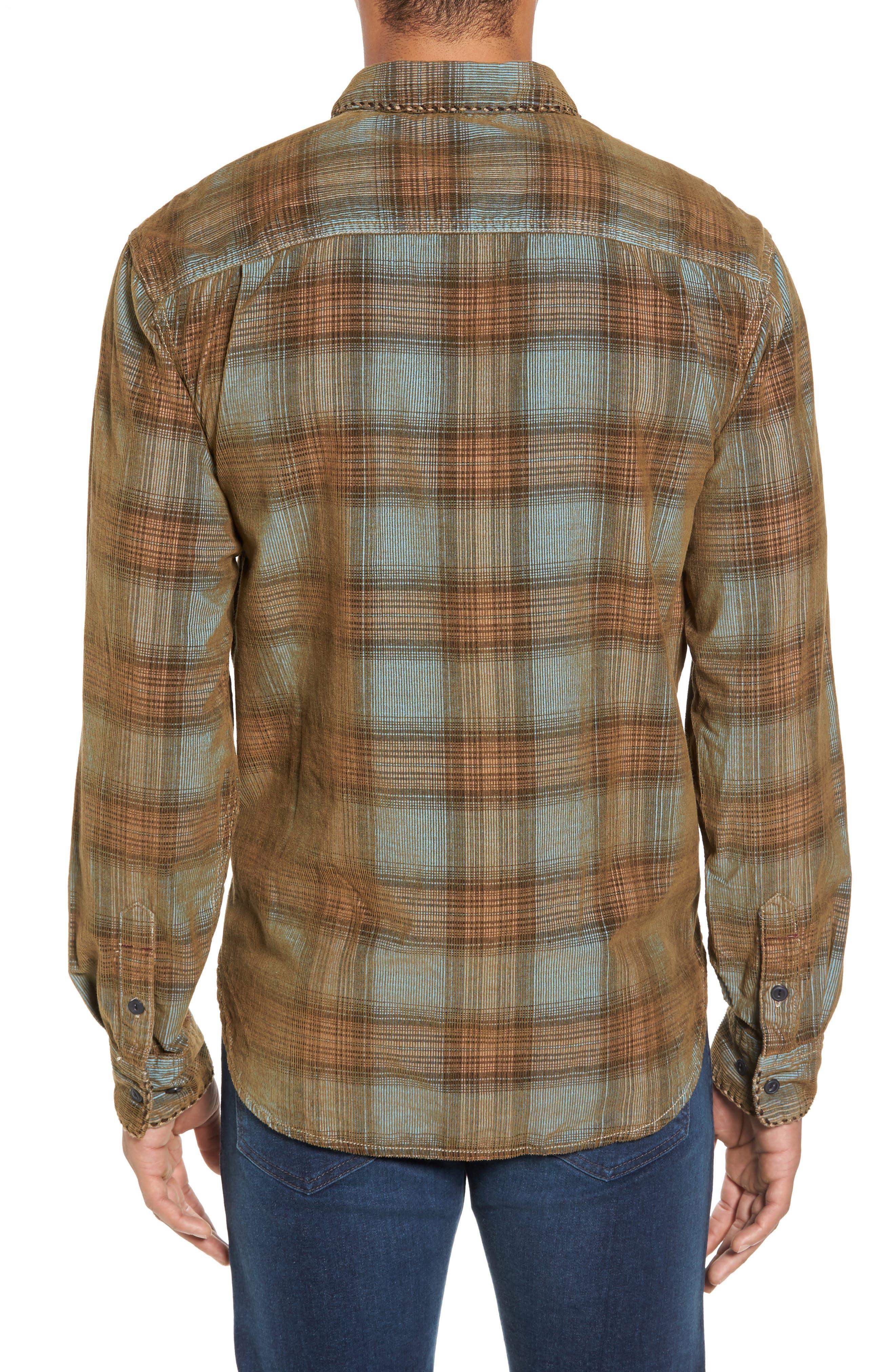 Alternate Image 2  - True Grit Ventura Vintage Slim Fit Plaid Corduroy Shirt