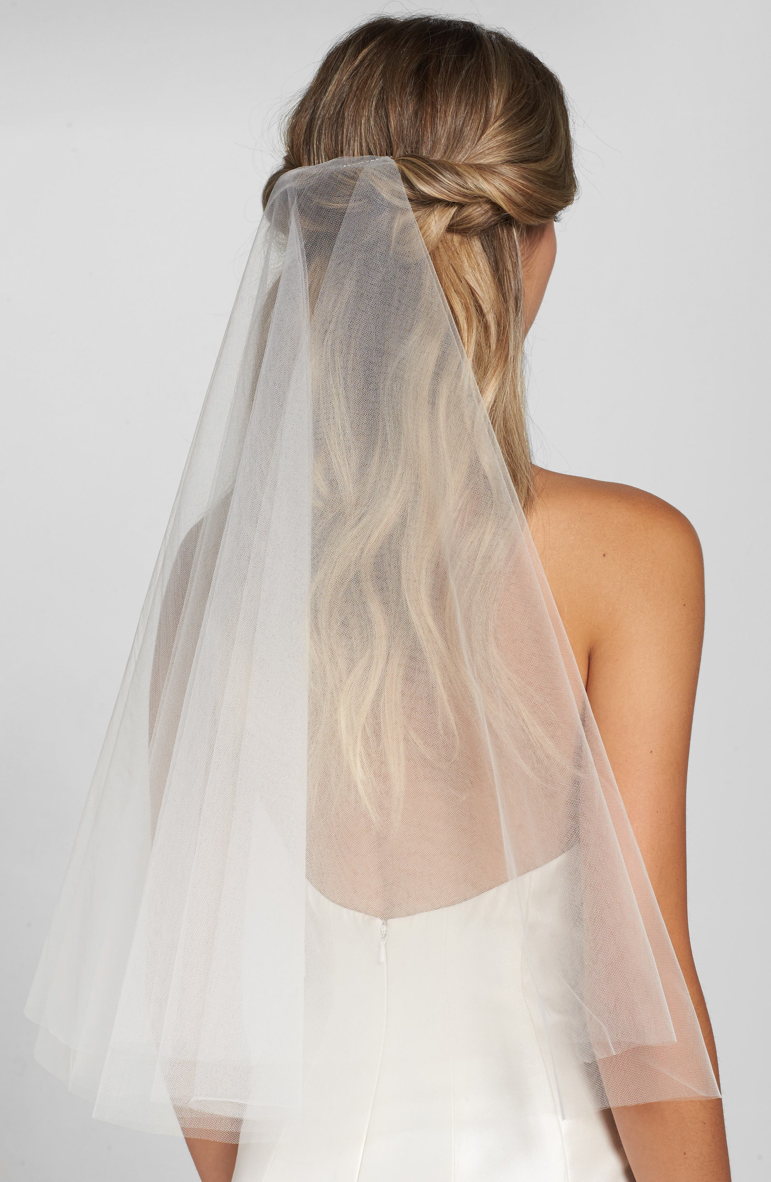 'Madeline' Two Tier Circle Veil,                             Main thumbnail 1, color,                             Ivory