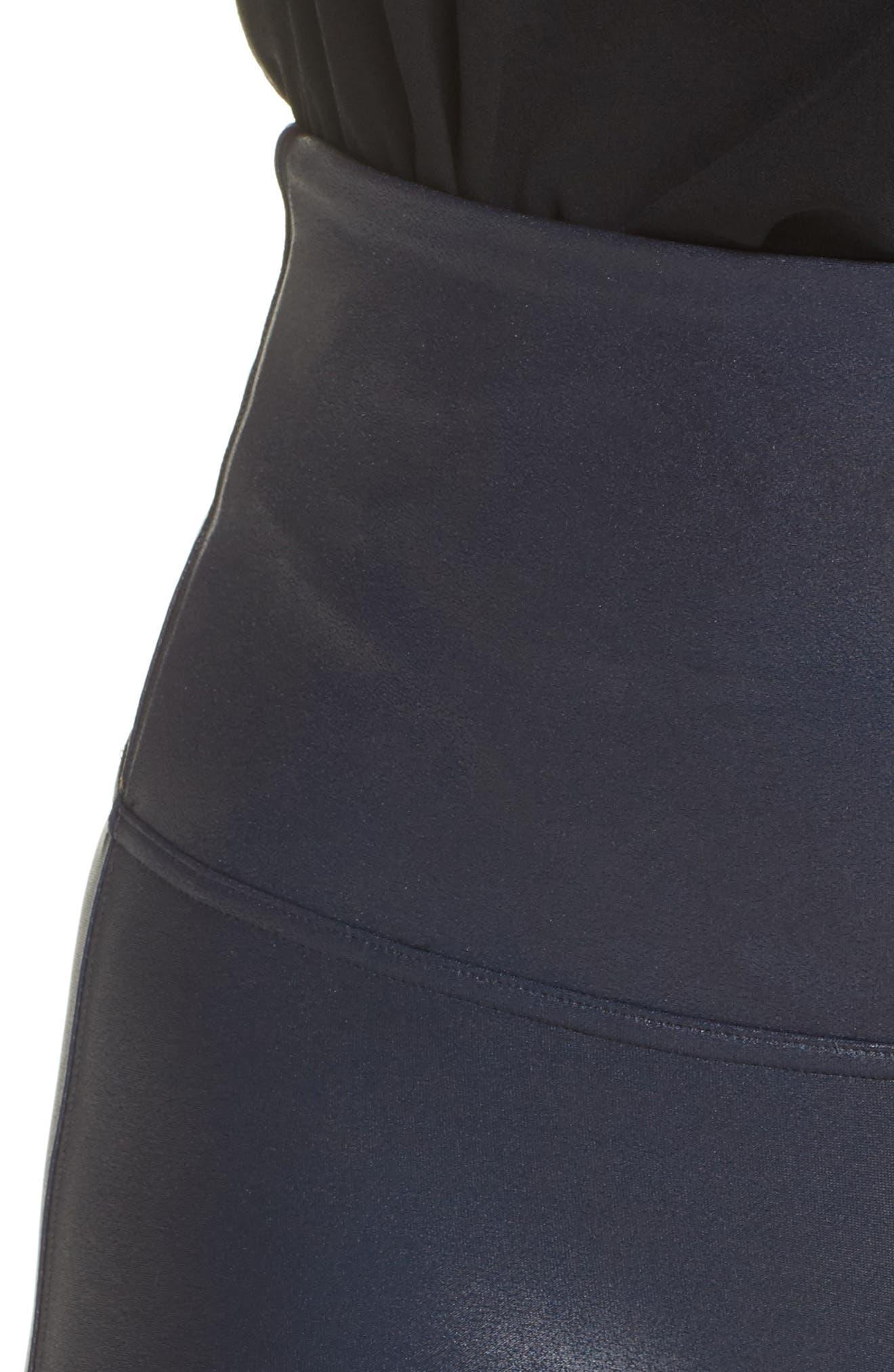 Alternate Image 5  - SPANX® Faux Leather Leggings (Plus Size)