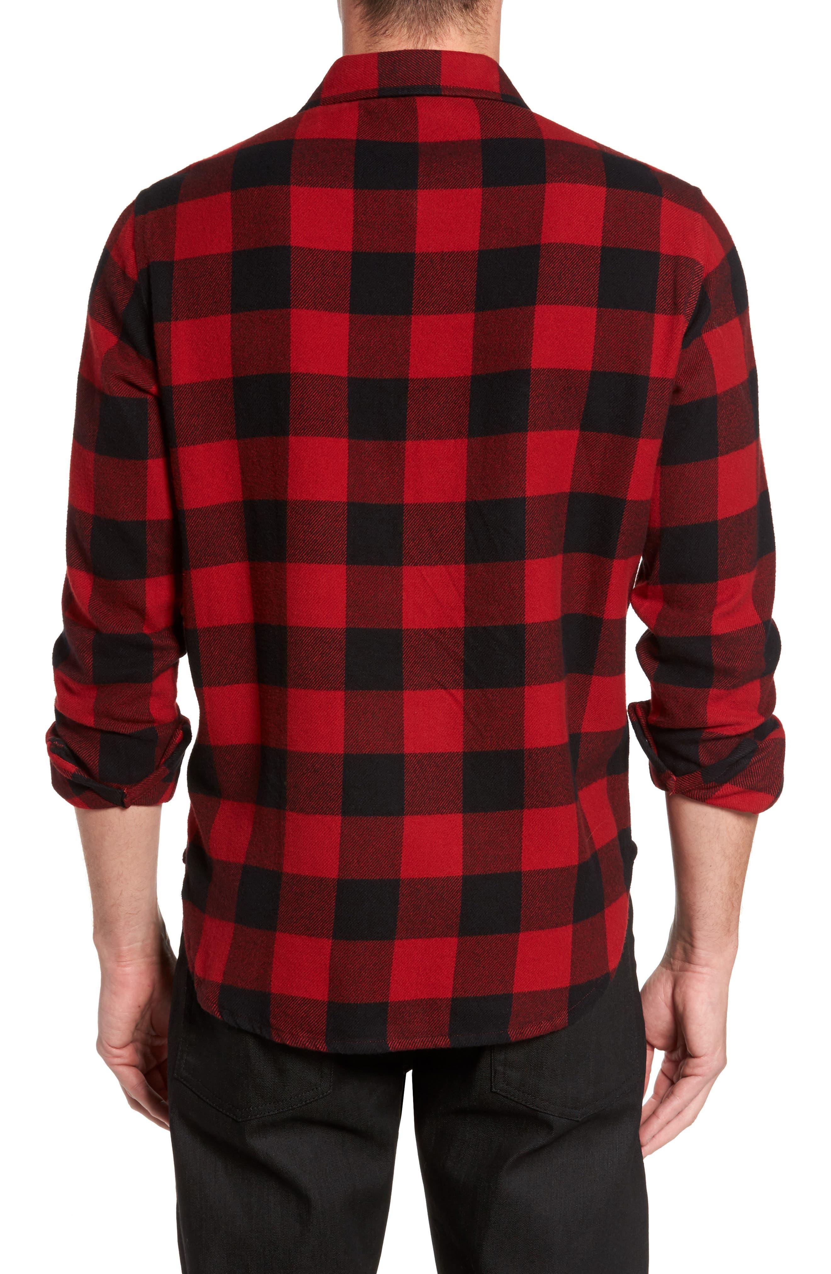 Buffalo Check Shirt Jacket,                             Alternate thumbnail 2, color,                             Buffalo Plaid