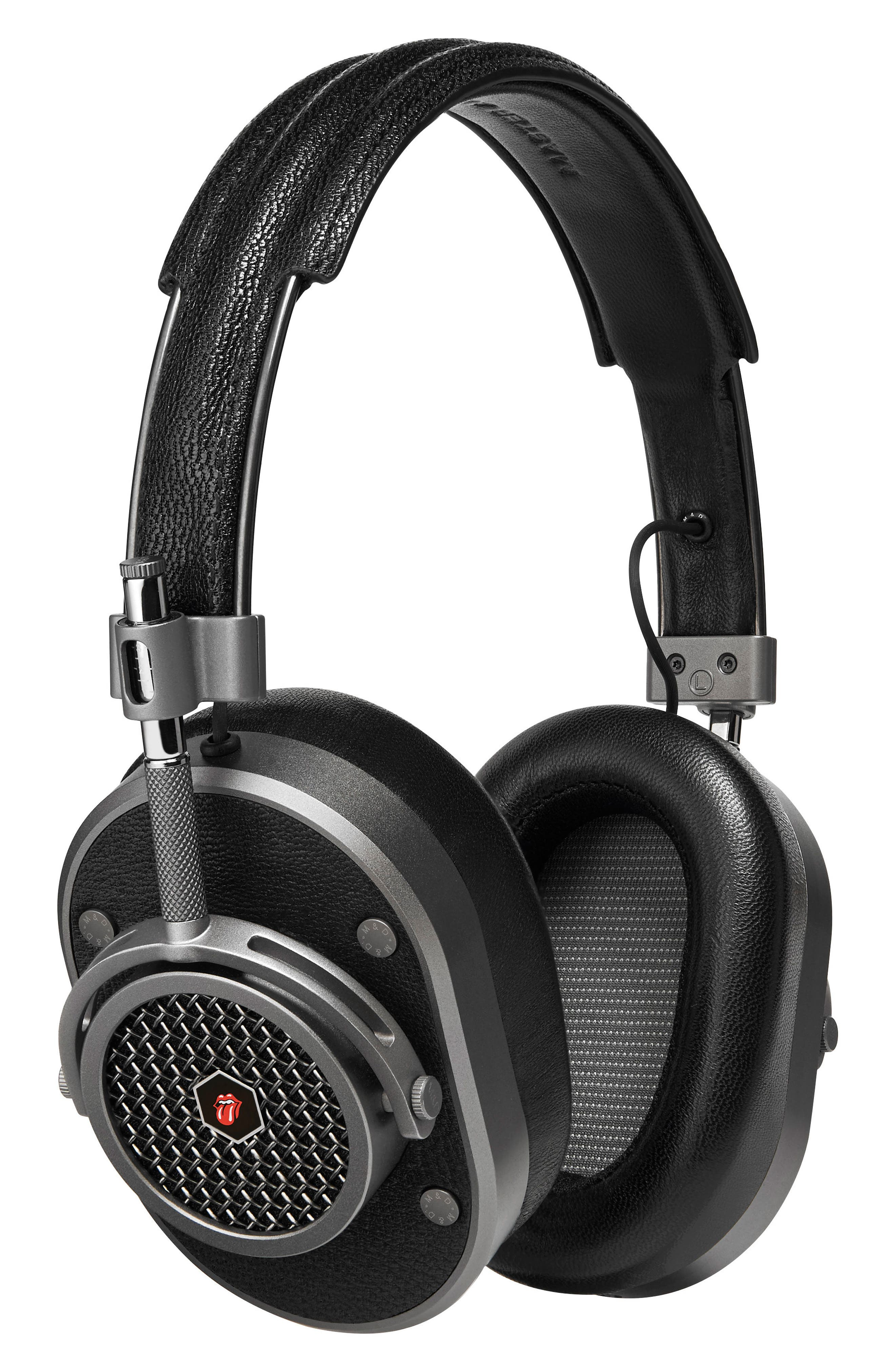 MH40 Leather Over Ear Headphones,                         Main,                         color, Rolling Stone Gunmetal