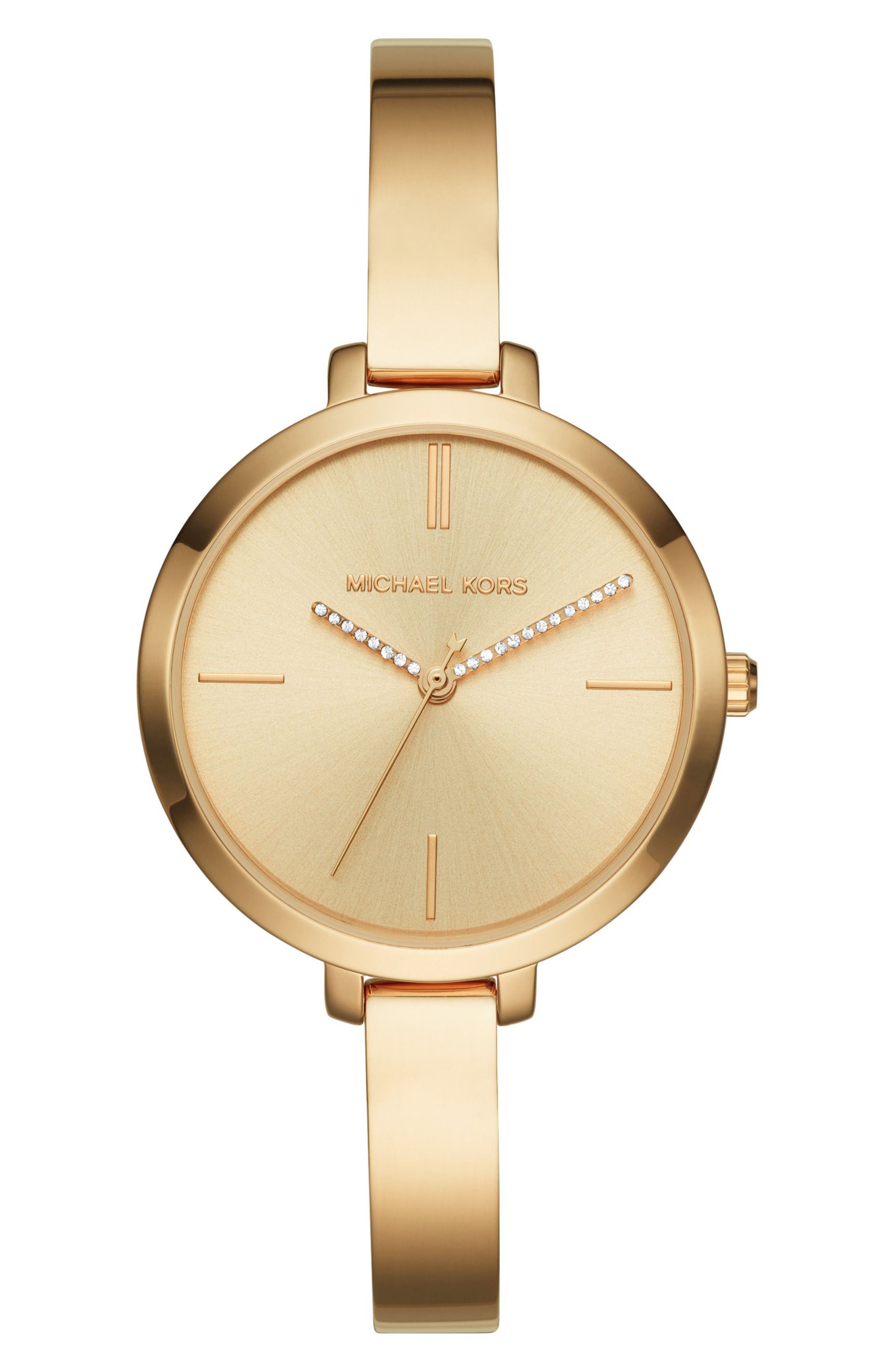 Jaryn Crystal Accent Bangle Watch, 36mm,                         Main,                         color, Gold