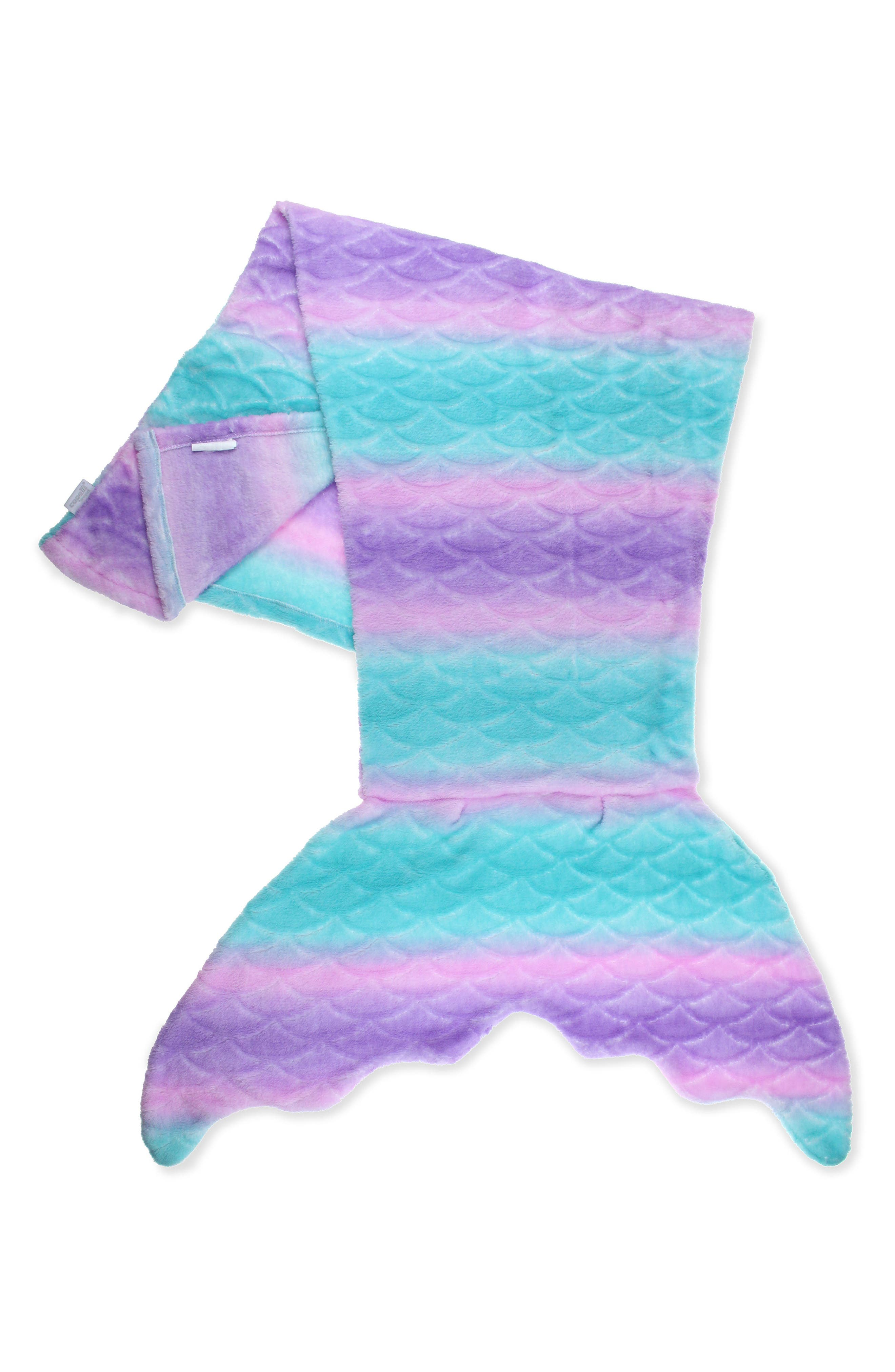 Capelli New York Sculpted Ombré Mermaid Tail Blanket