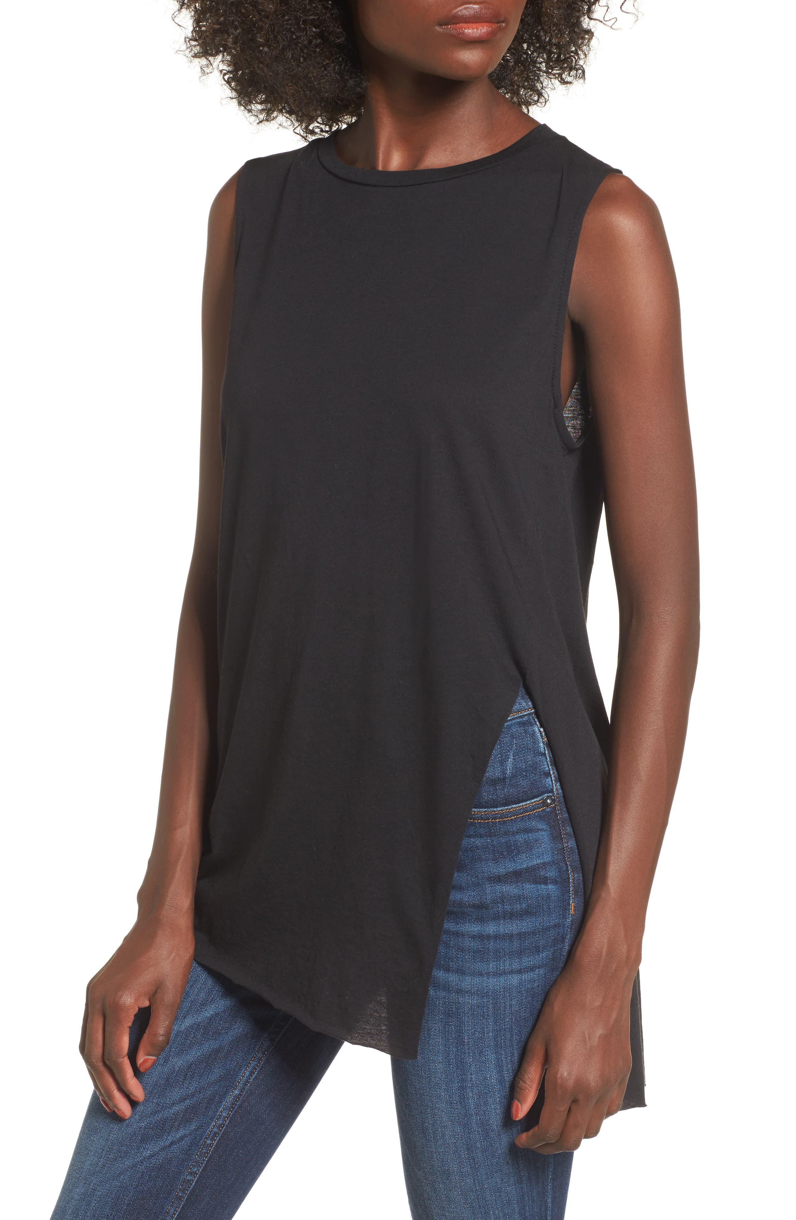 Alternate Image 1 Selected - Asymmetrical Cutout Tank