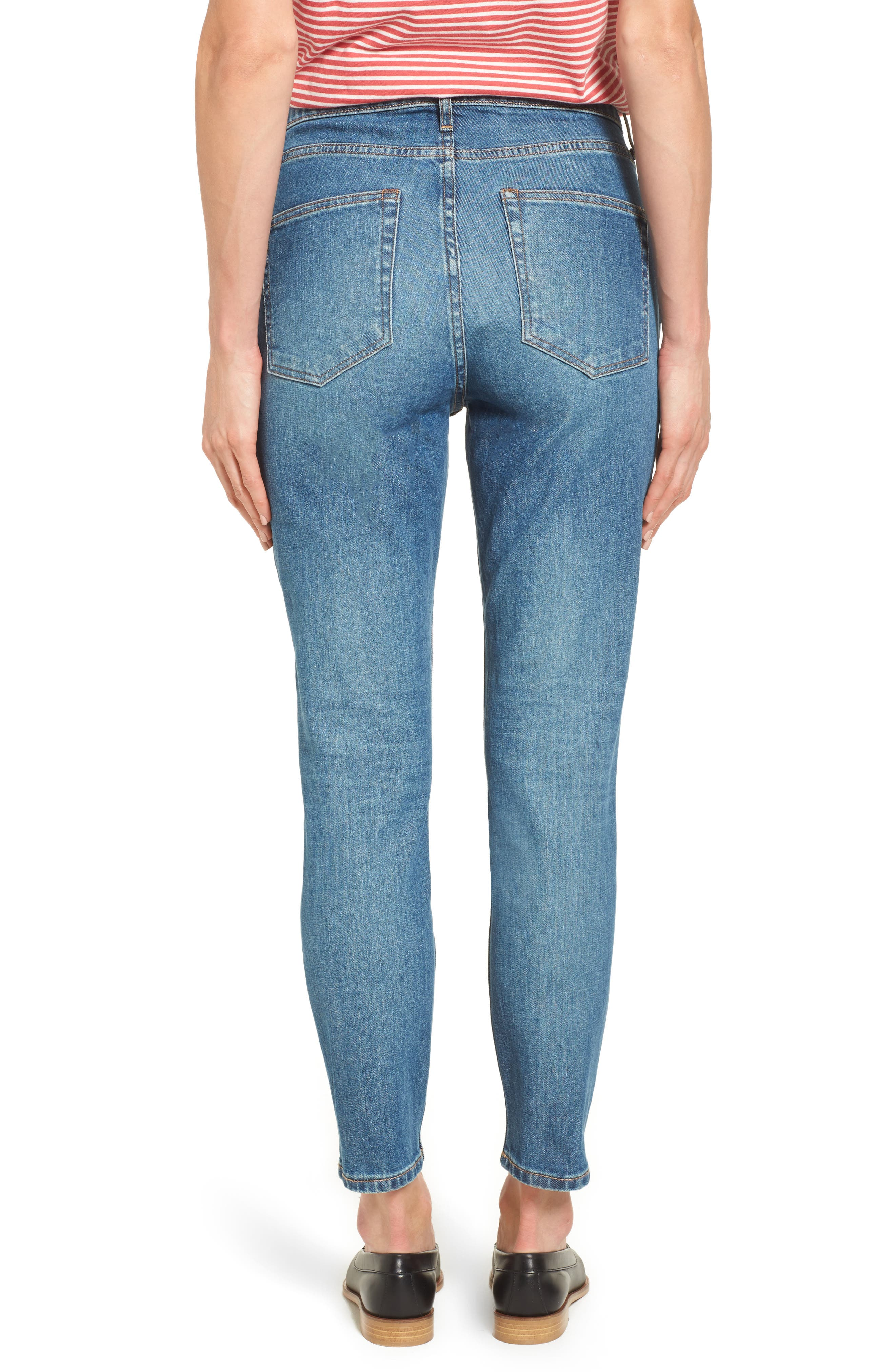 Alternate Image 2  - Everlane The High Rise Skinny Ankle Jeans