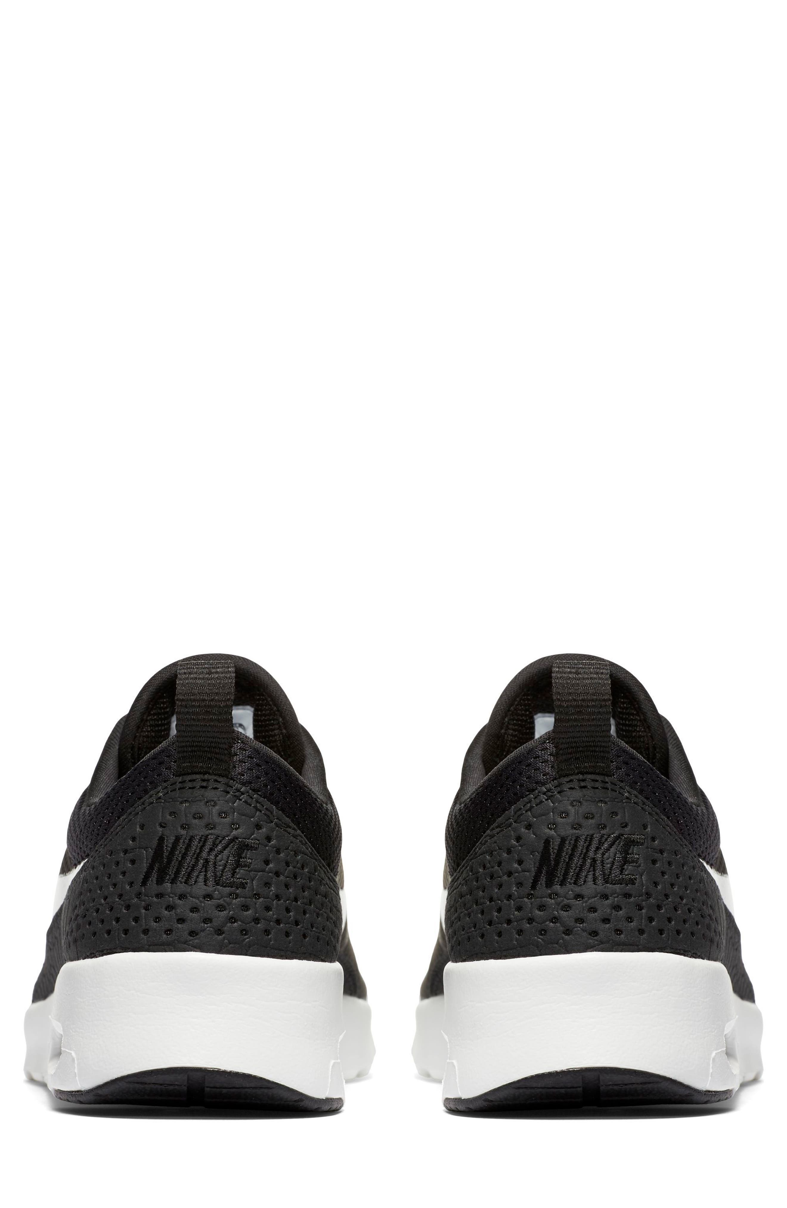 Air Max Thea Sneaker,                             Alternate thumbnail 4, color,                             Black/ Summit White
