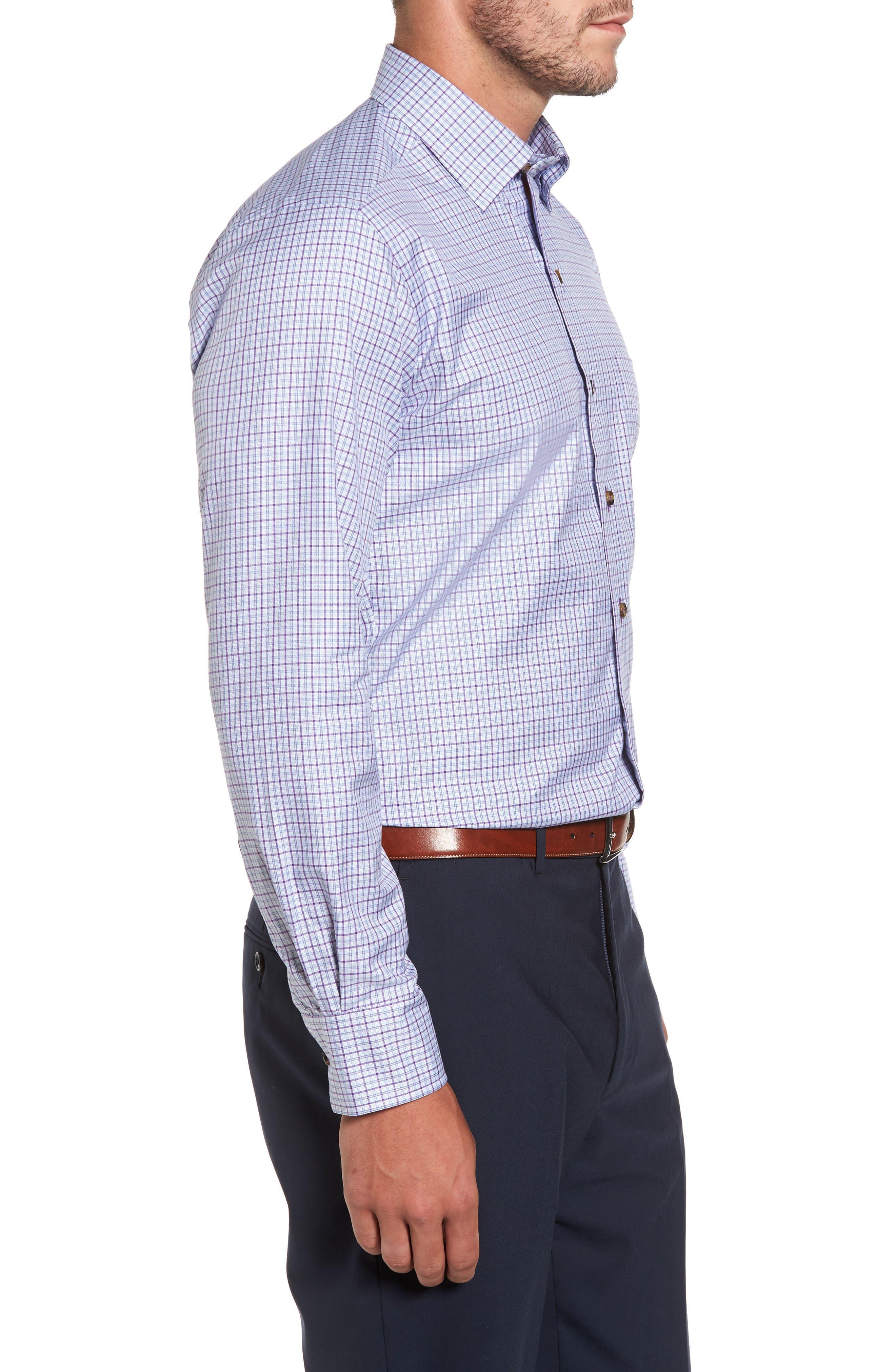 Alternate Image 3  - David Donahue Plaid Regular Fit Sport Shirt