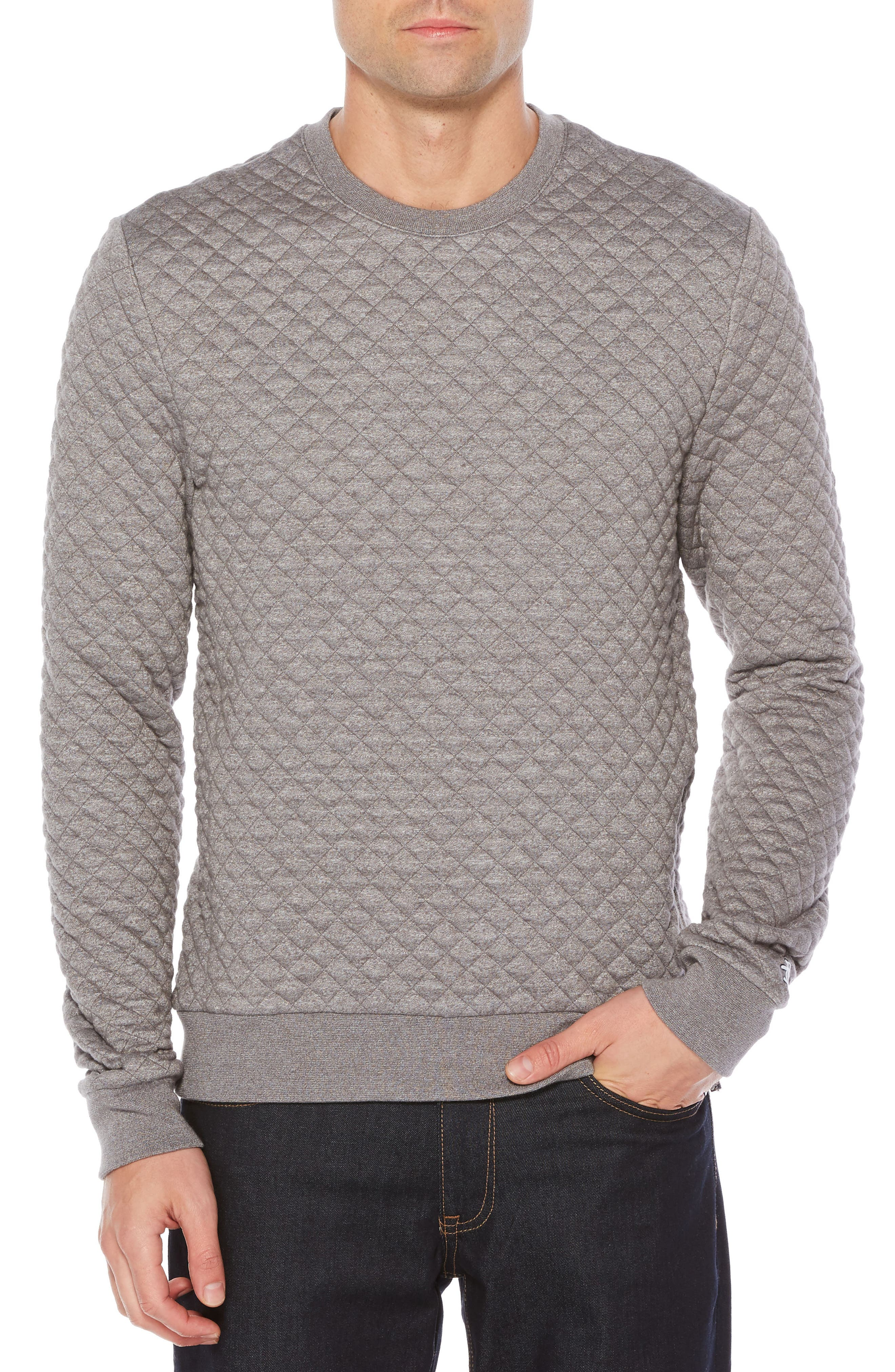 Quilted Sweater,                         Main,                         color, Griffin