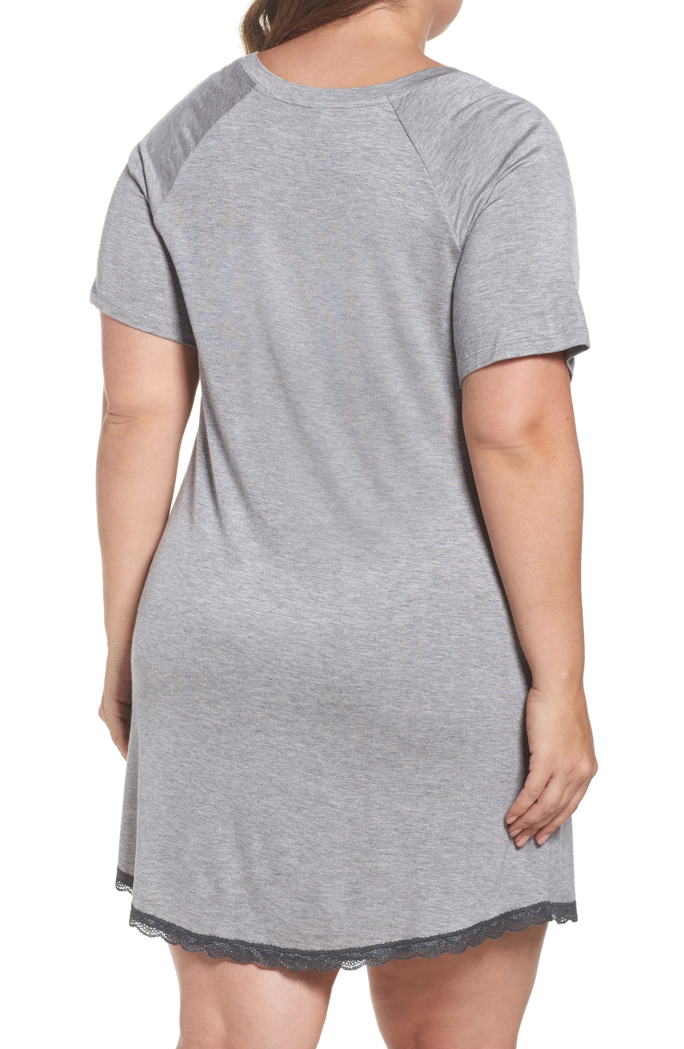 Alternate Image 2  - Honeydew Lace Trim Sleep Shirt (Plus Size) (2 for $60)