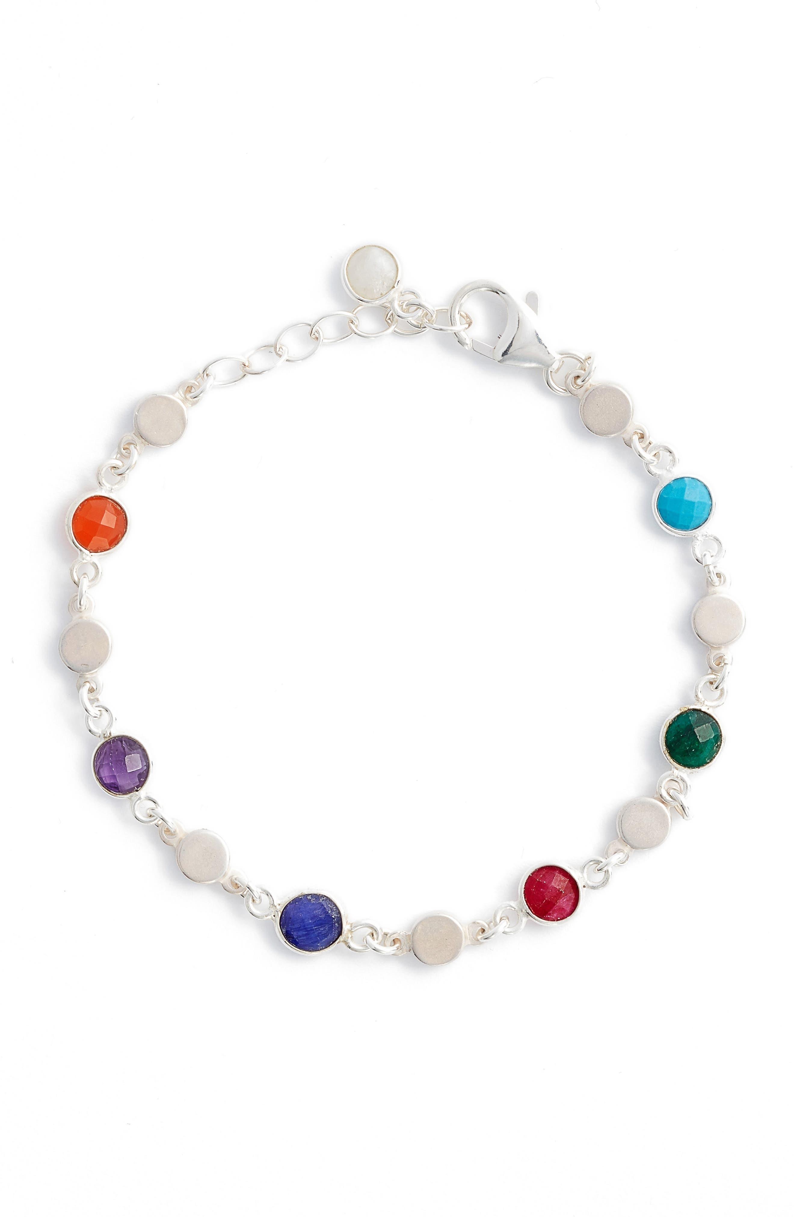 Seek It All Bezeled Bracelet,                             Alternate thumbnail 2, color,                             Silver