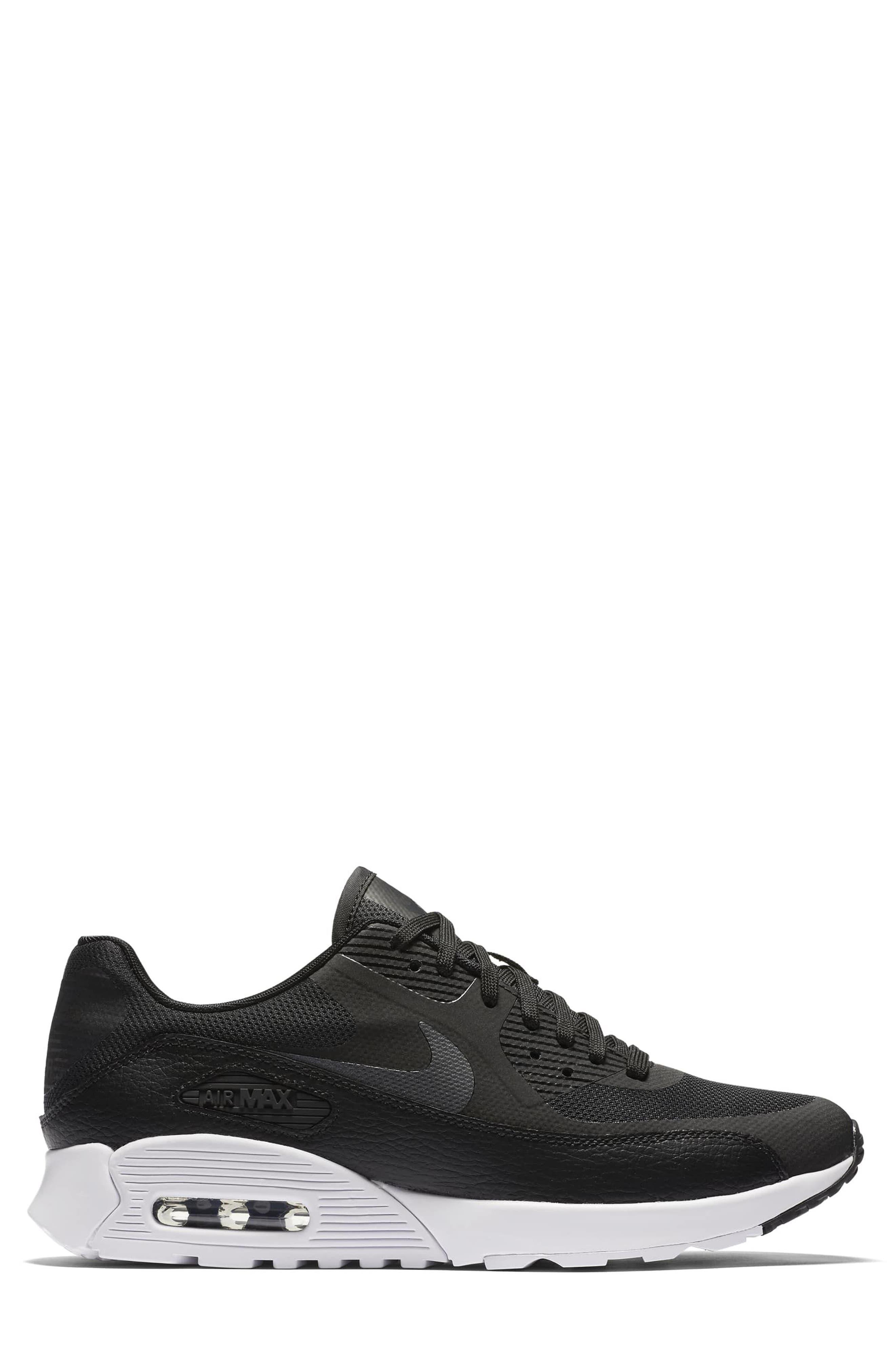 Air Max 90 Ultra 2.0 Sneaker,                             Alternate thumbnail 2, color,                             Black/ White/ Black