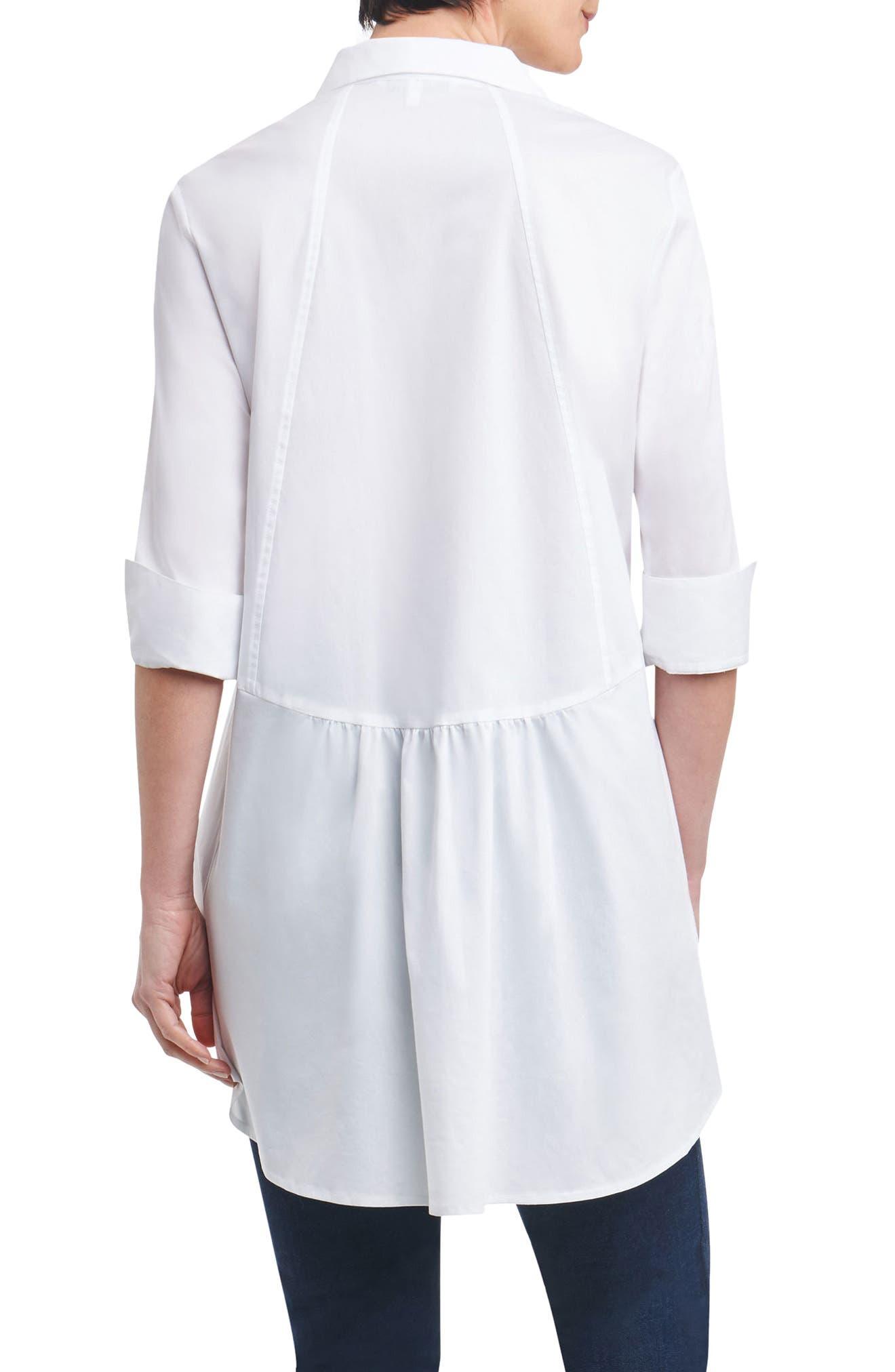 Alternate Image 2  - Foxcroft Lucy Stretch Tunic Shirt