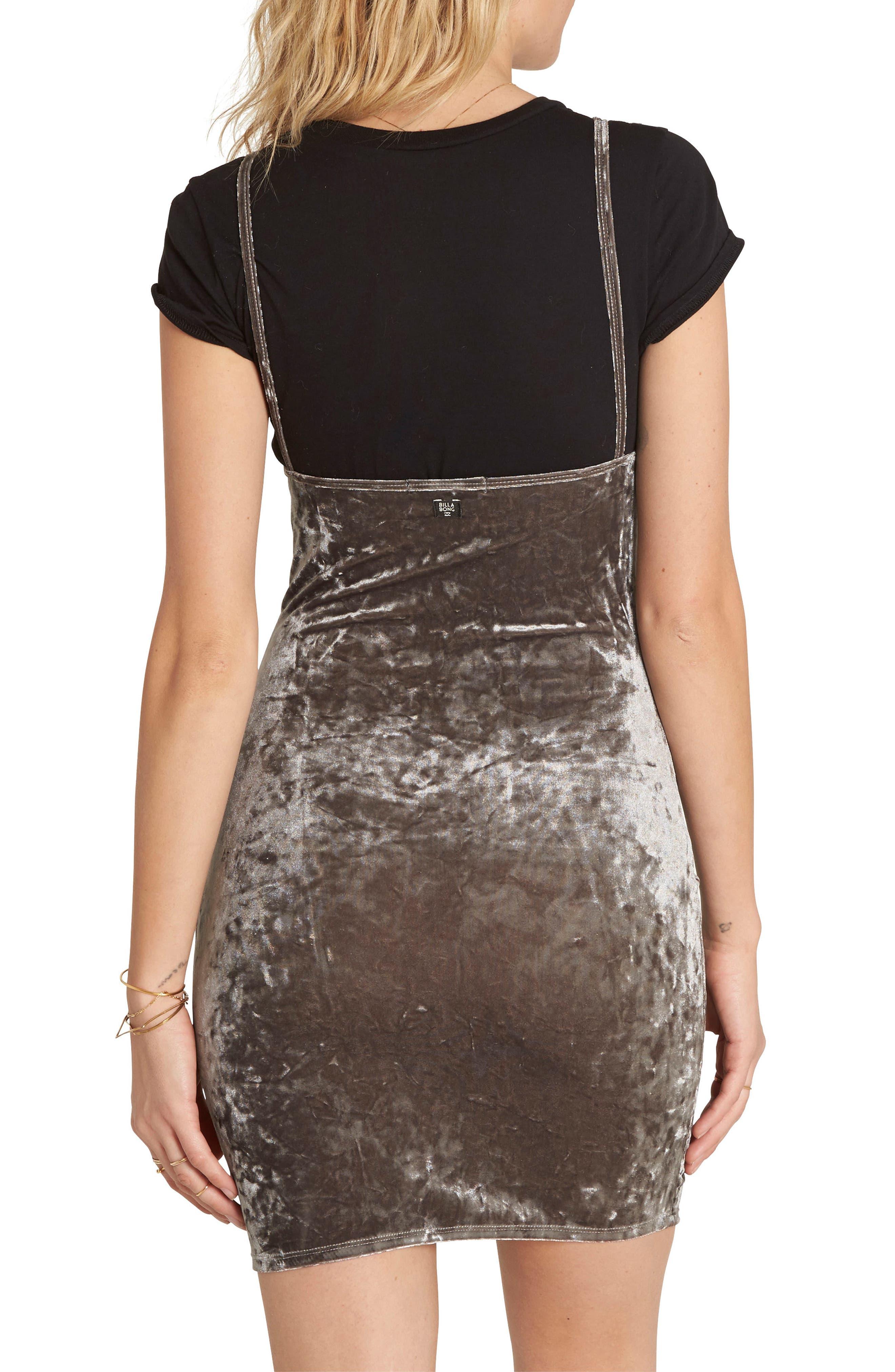 Mystic Dream Velvet Body-Con Dress,                             Alternate thumbnail 2, color,                             Silver
