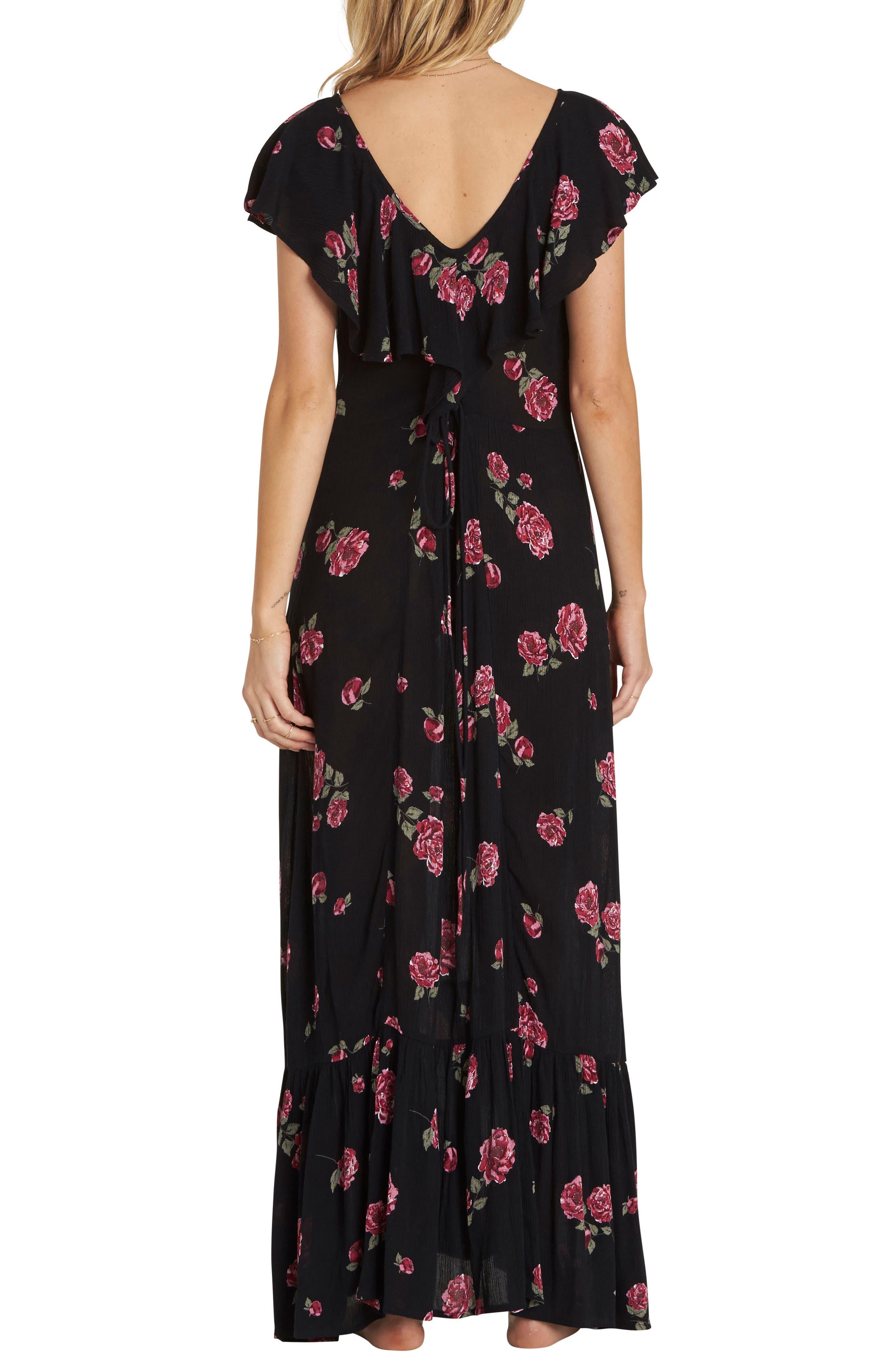 Southern Border Ruffled Maxi Dress,                             Alternate thumbnail 2, color,                             Black