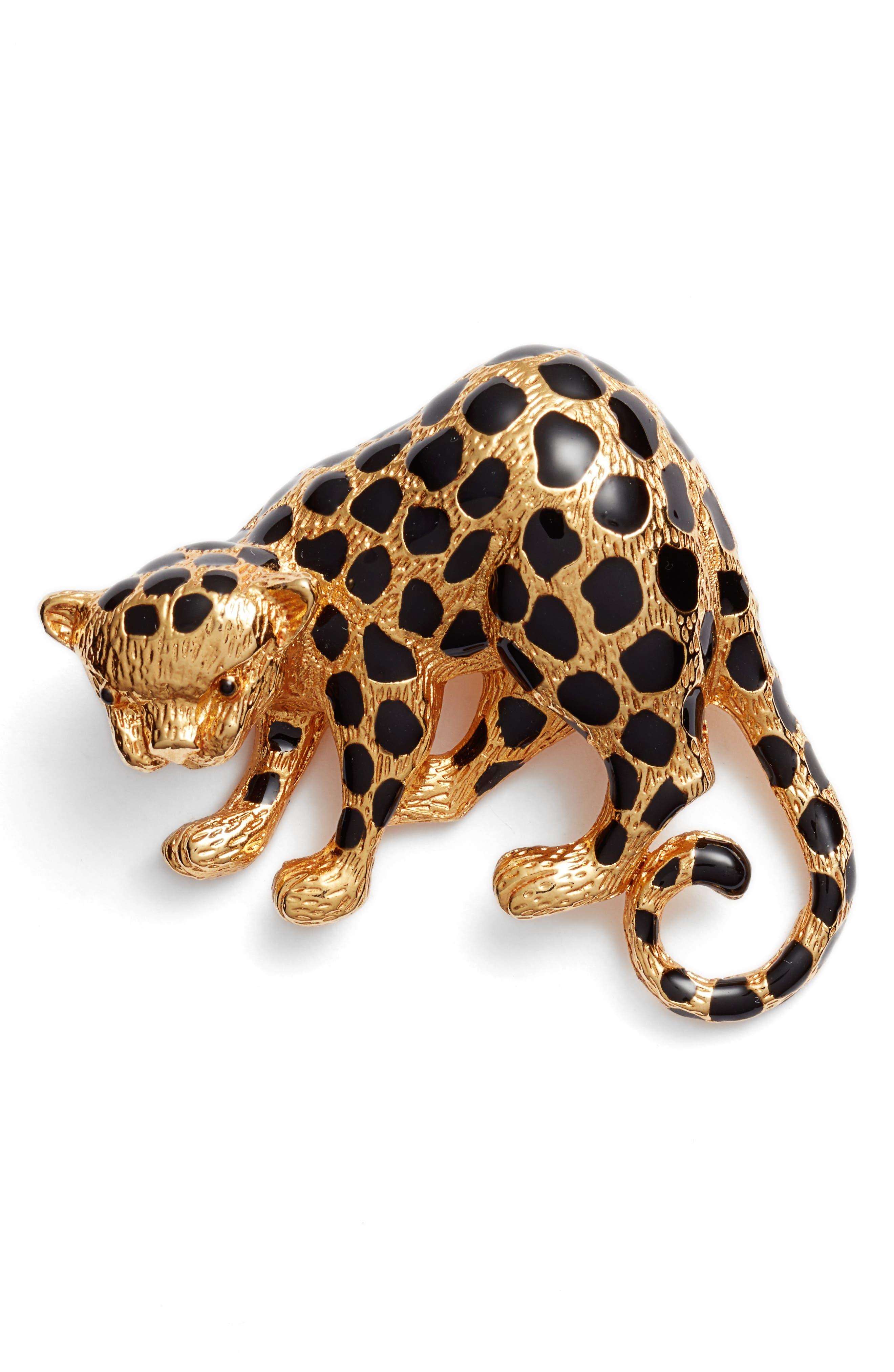 Oscar de la Renta Cheetah Brooch
