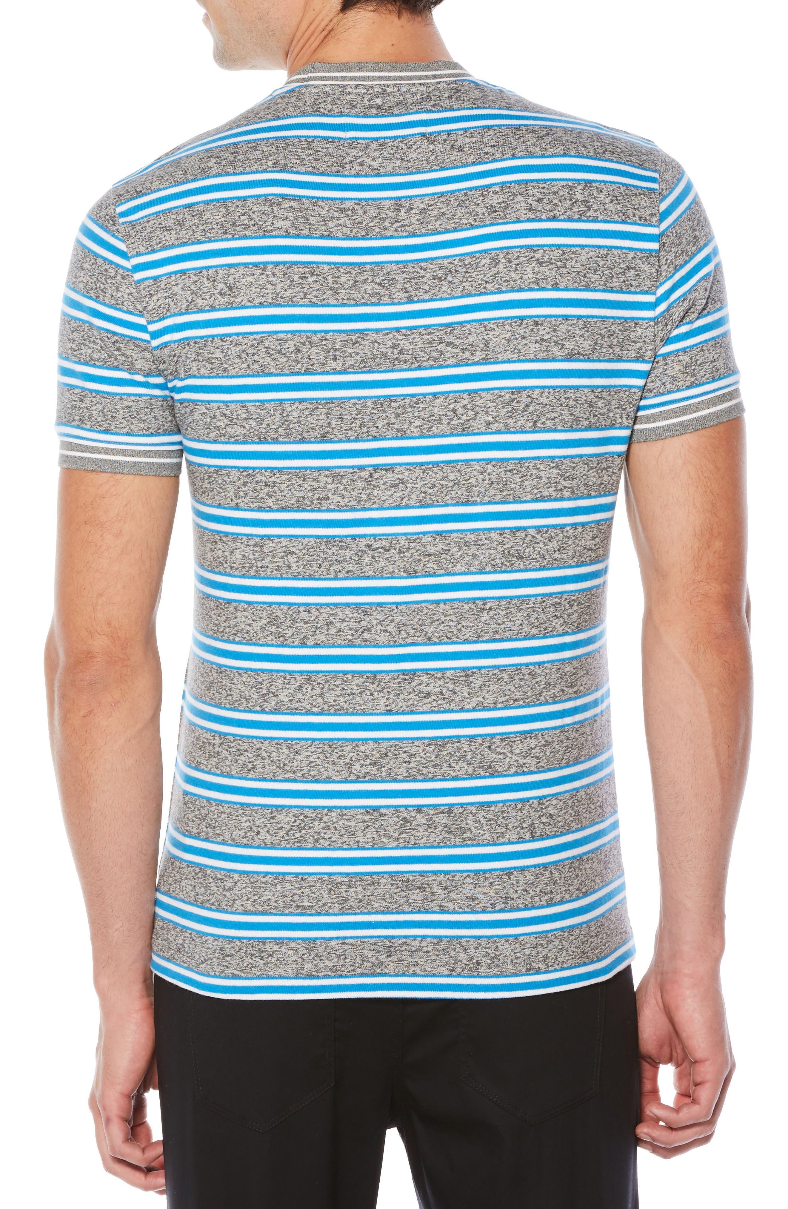 Jaspé Retro Stripe T-Shirt,                             Alternate thumbnail 2, color,                             Swedish Blue
