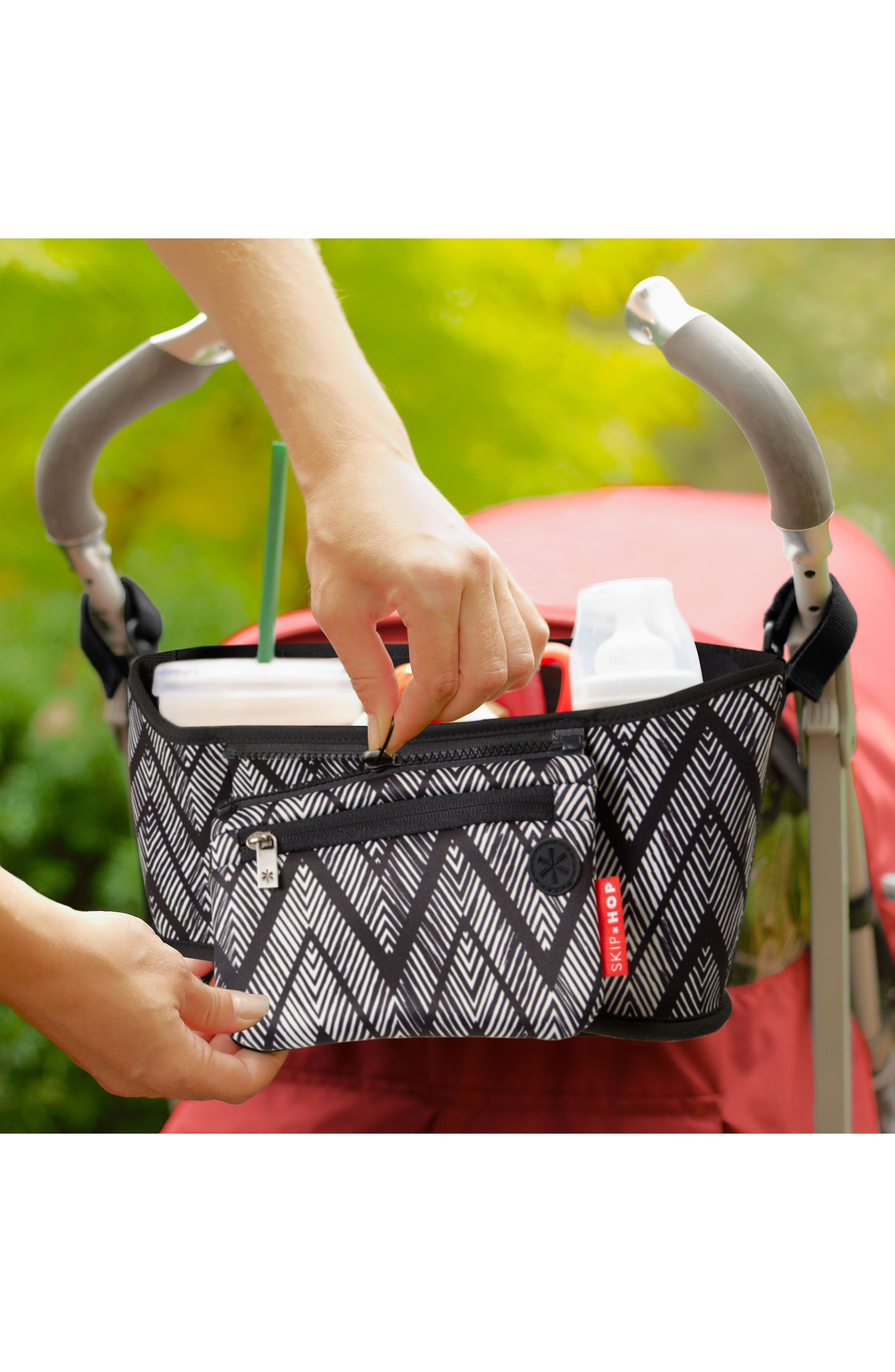 Stroller Organizer,                             Alternate thumbnail 3, color,                             Zig Zag Zebra