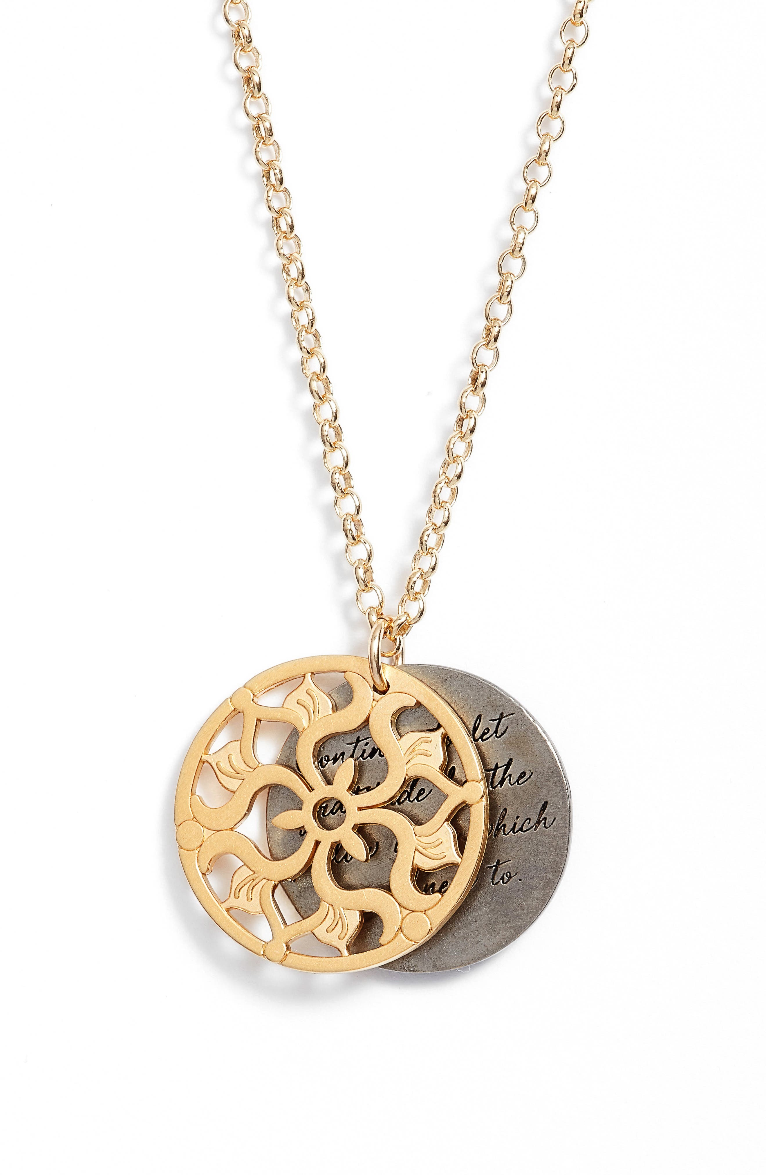 Alternate Image 3  - Dogeared The Legacy Collection - Continue to Let Gratitude... Pendant Necklace