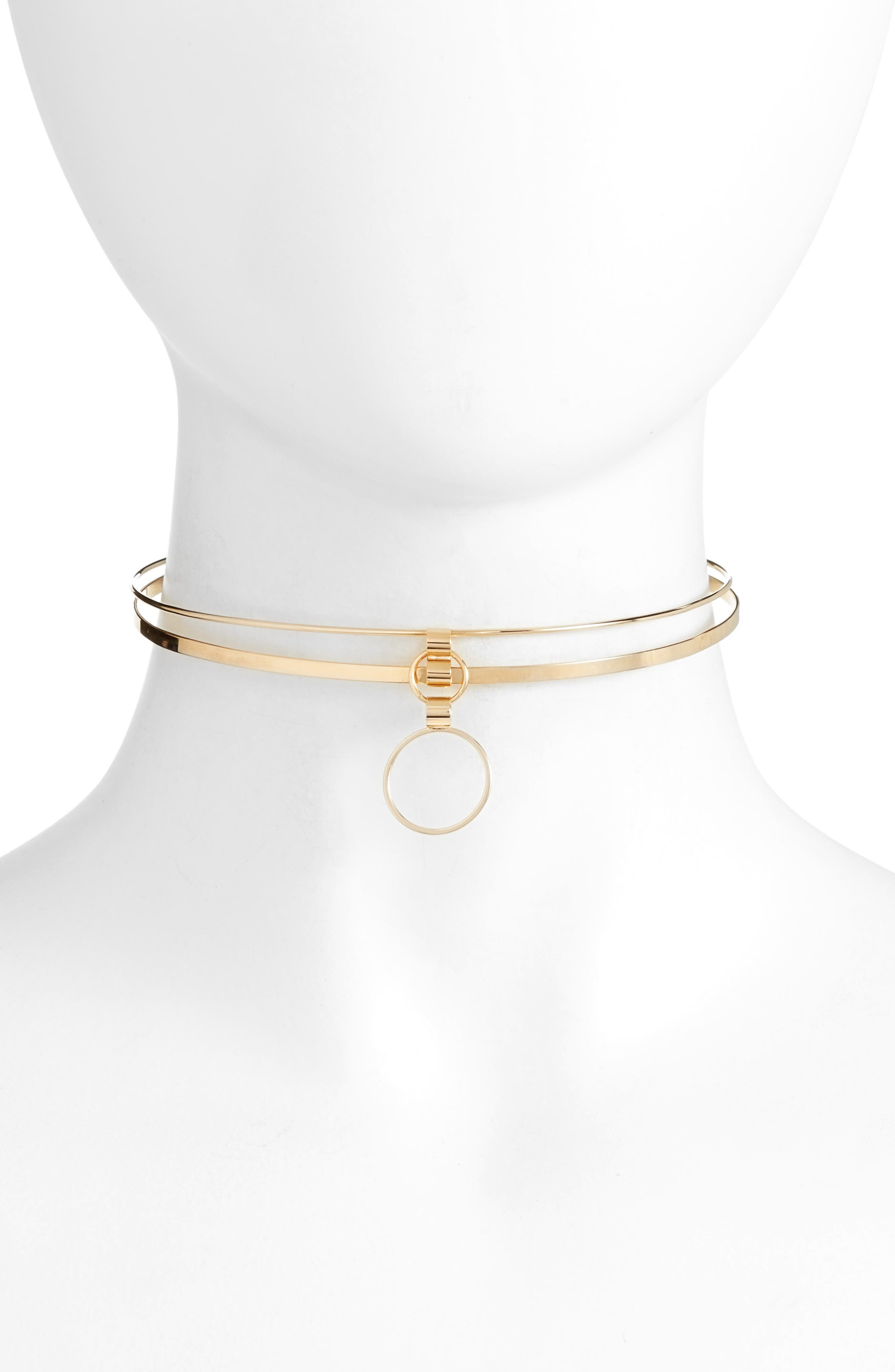Whirl Choker,                         Main,                         color, Gold/ Clear