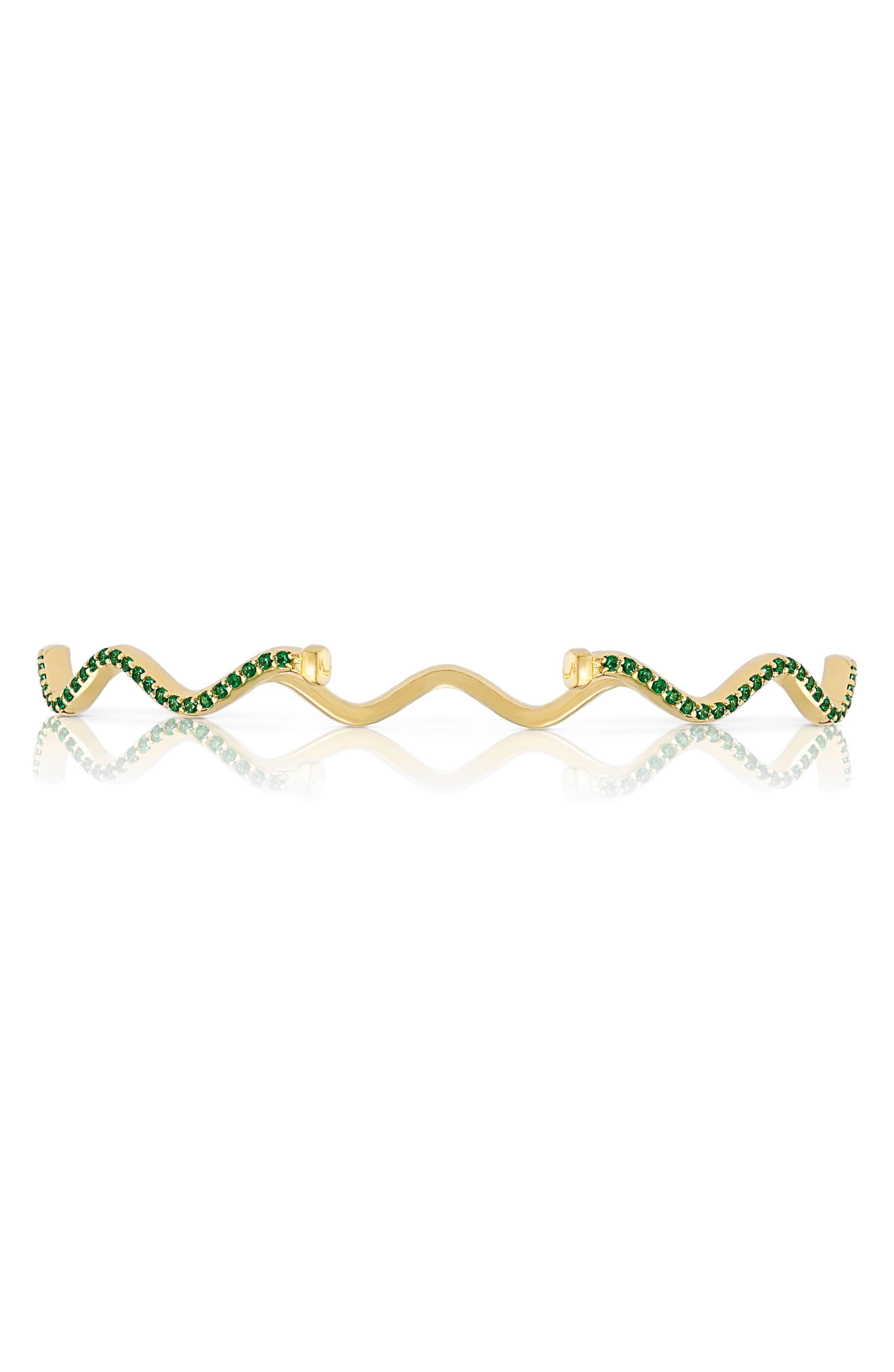 Alternate Image 3  - Sabine Getty Baby Memphis Solid Wave Tsavorite Cuff Bracelet