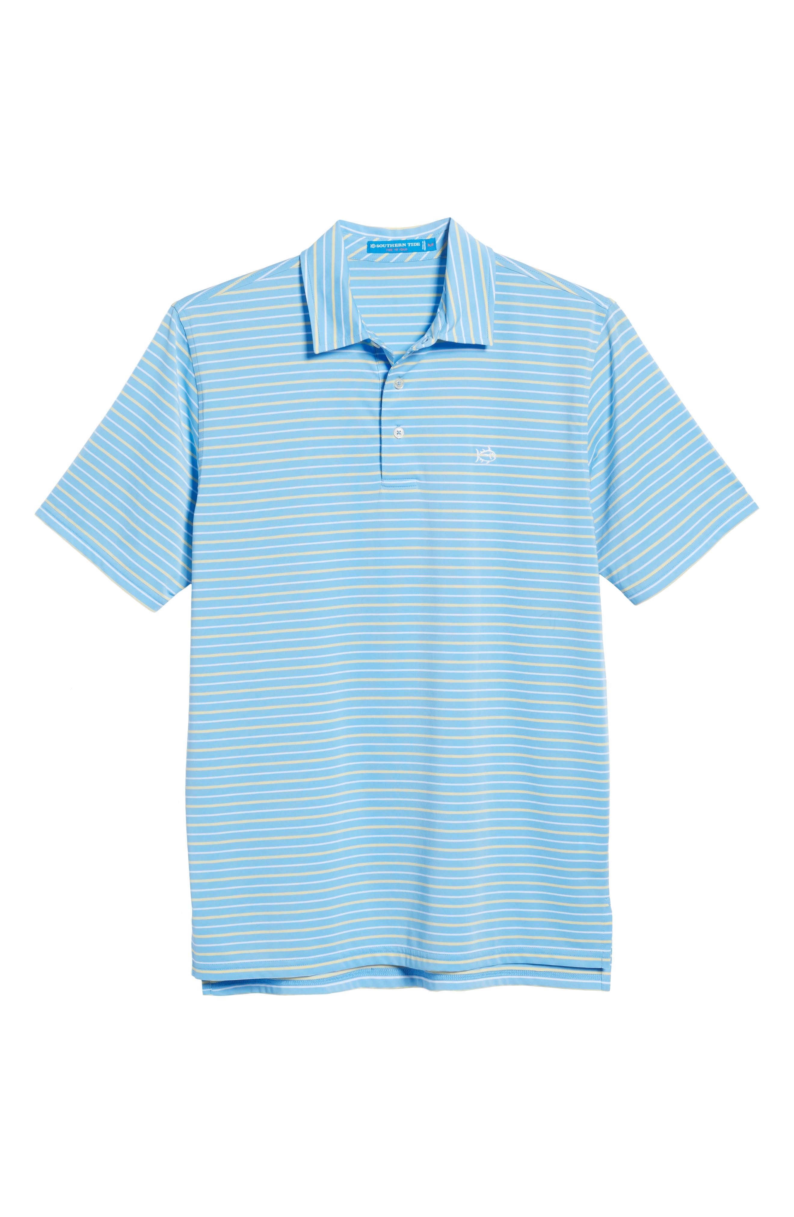 Driver Tico Stripe Polo,                             Alternate thumbnail 6, color,                             Ocean Channel
