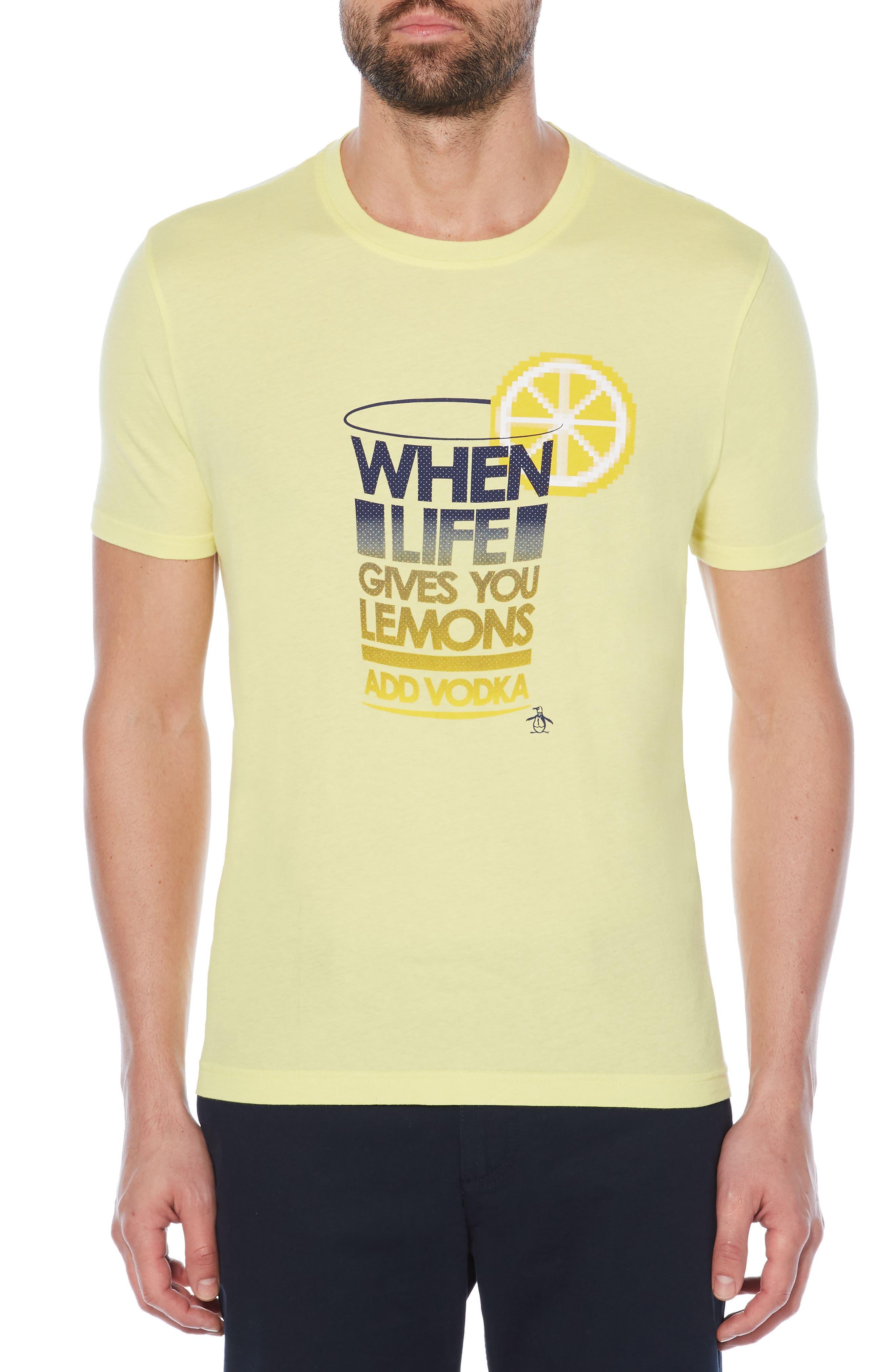 When Life Gives You Lemons T-Shirt,                         Main,                         color, Limelight