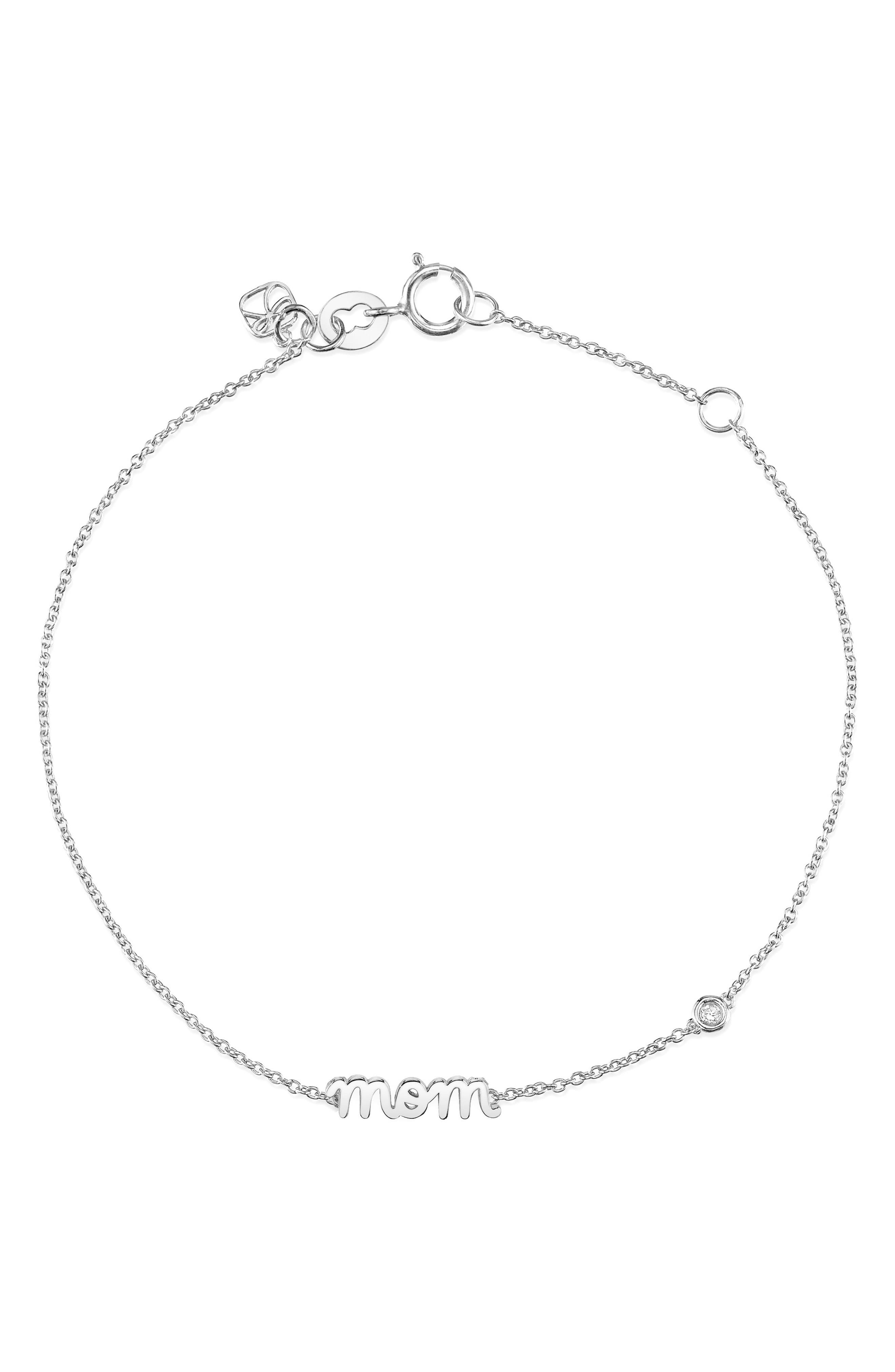 Mom Chain Bracelet,                         Main,                         color, Silver