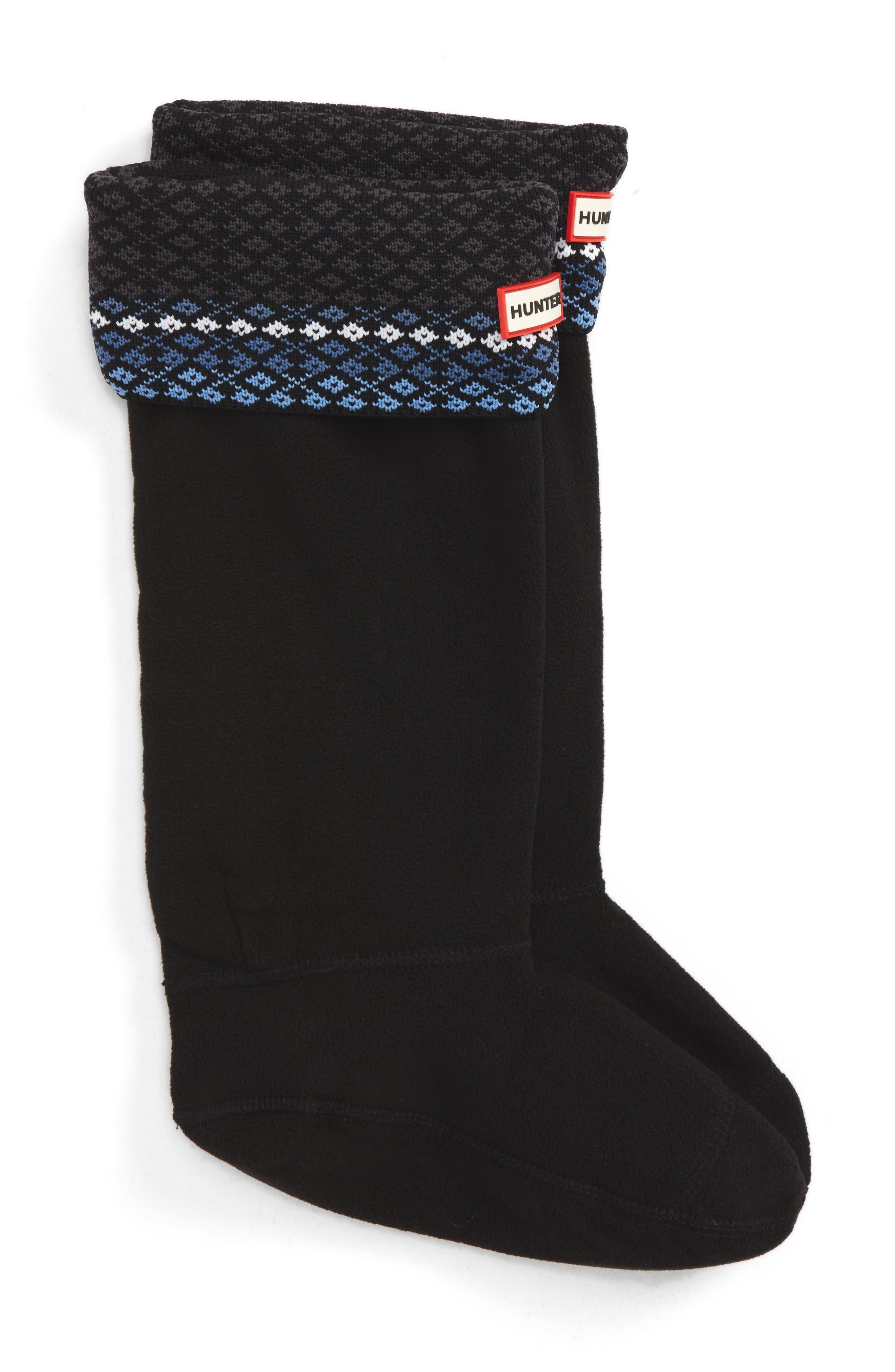 Alternate Image 1 Selected - Hunter Tall Fair Isle Boot Socks (Women)