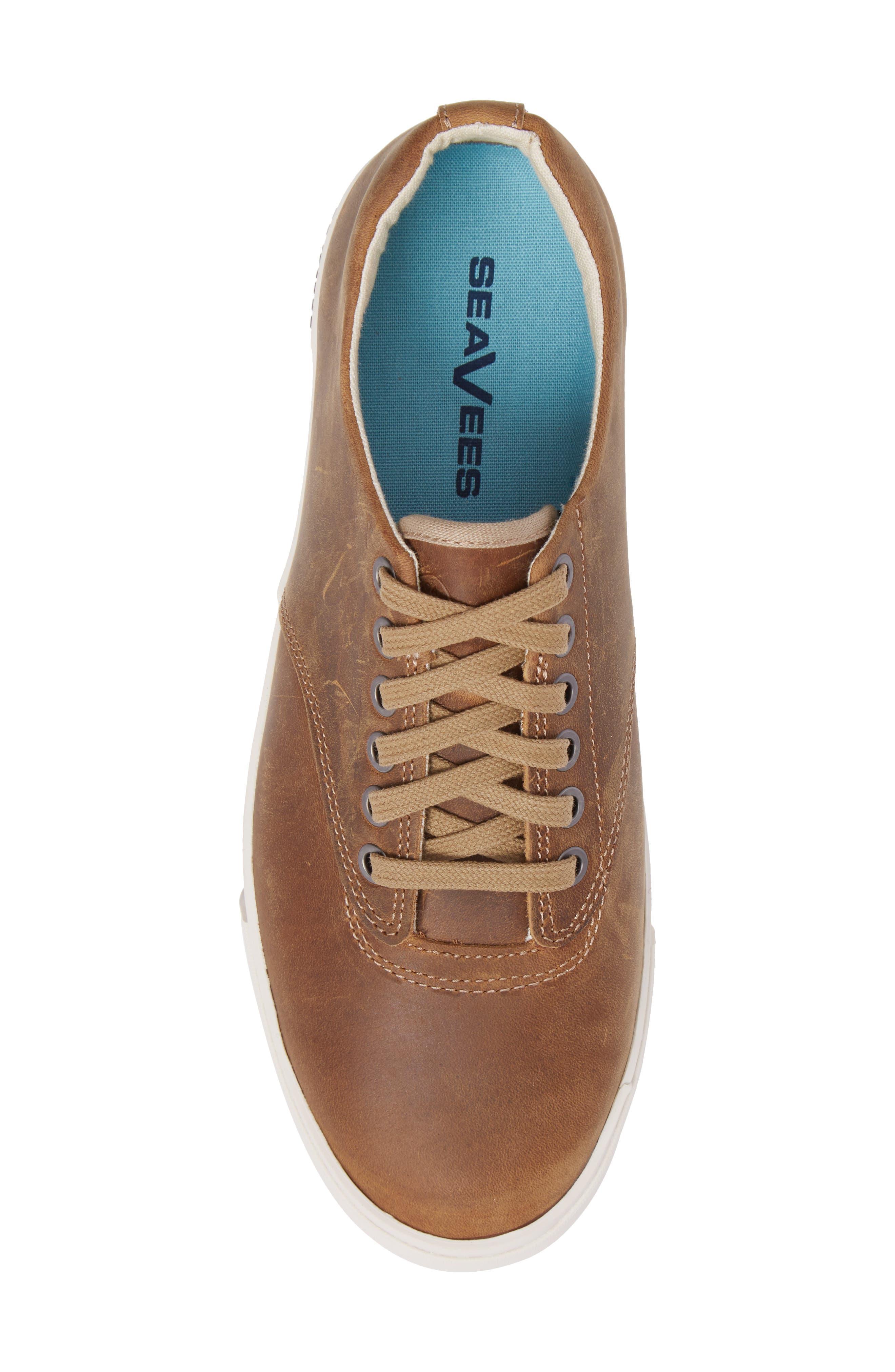Hermosa Plimsoll Wintertide Sneaker,                             Alternate thumbnail 5, color,                             Elmwood Leather