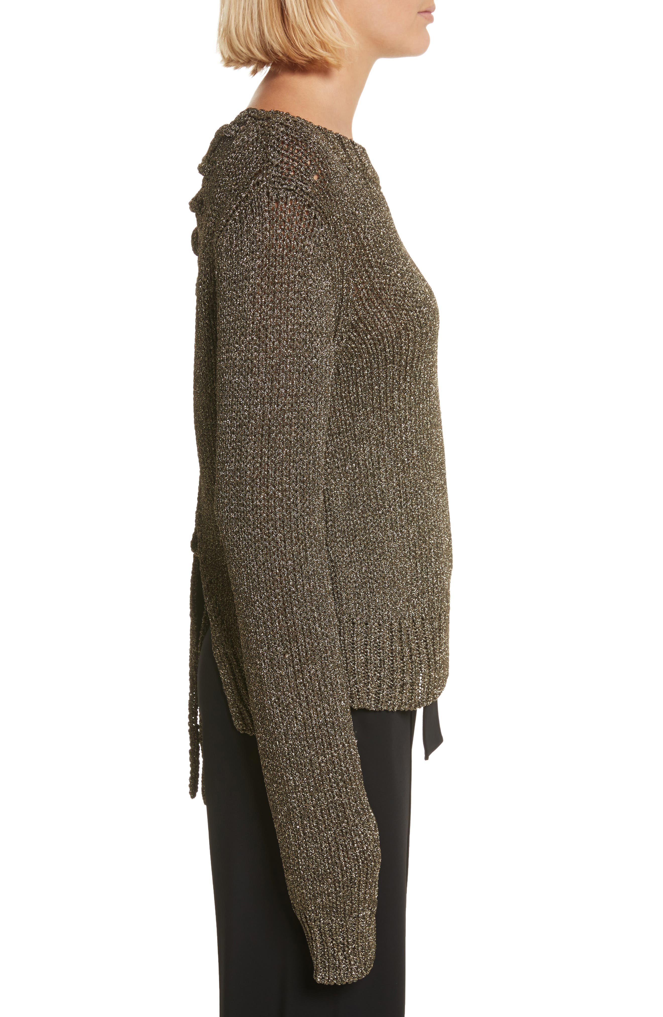 Alternate Image 3  - A.L.C. Marjorie Lace-Up Back Sweater