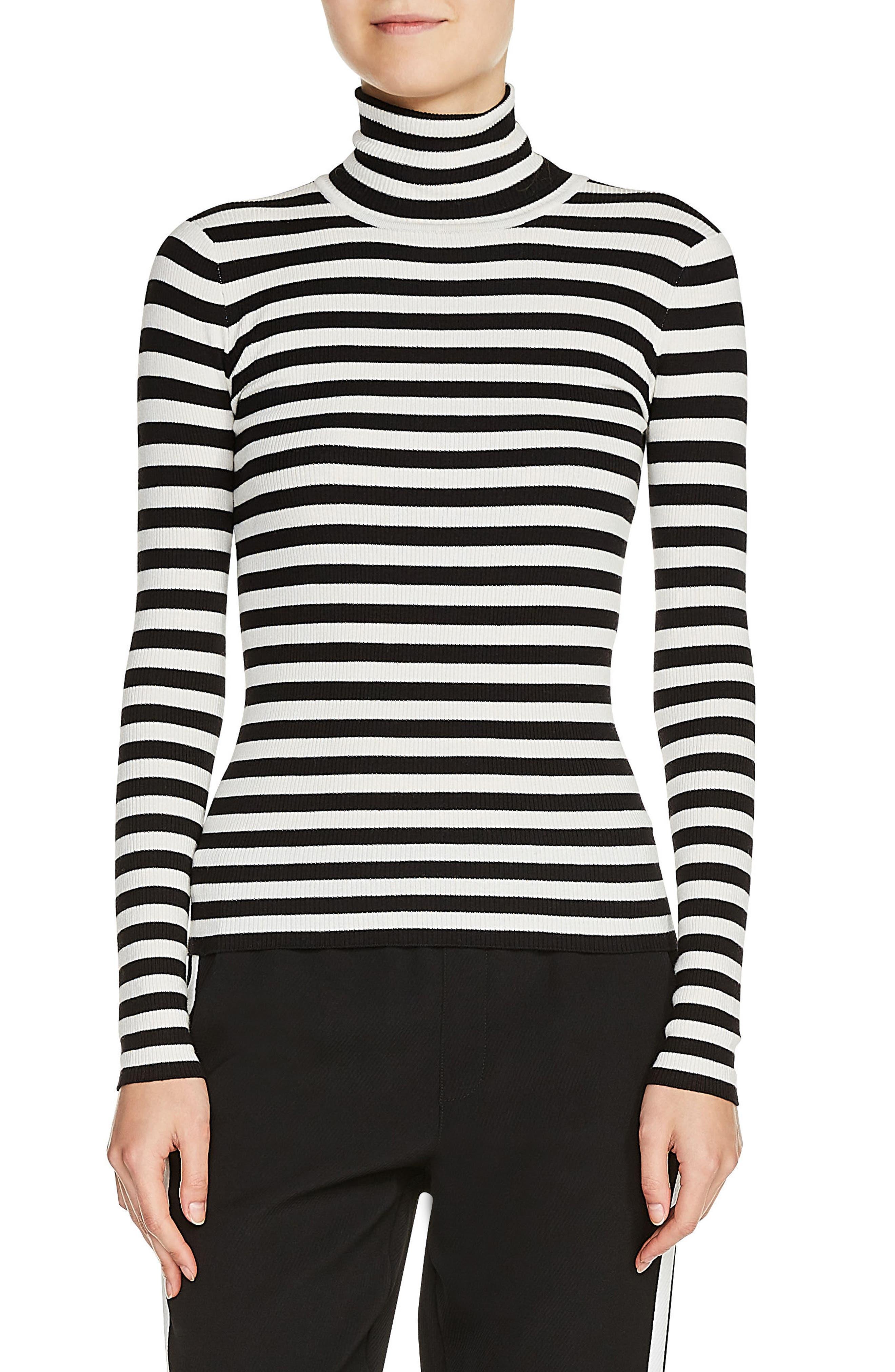 maje Stripe Turtleneck Sweater