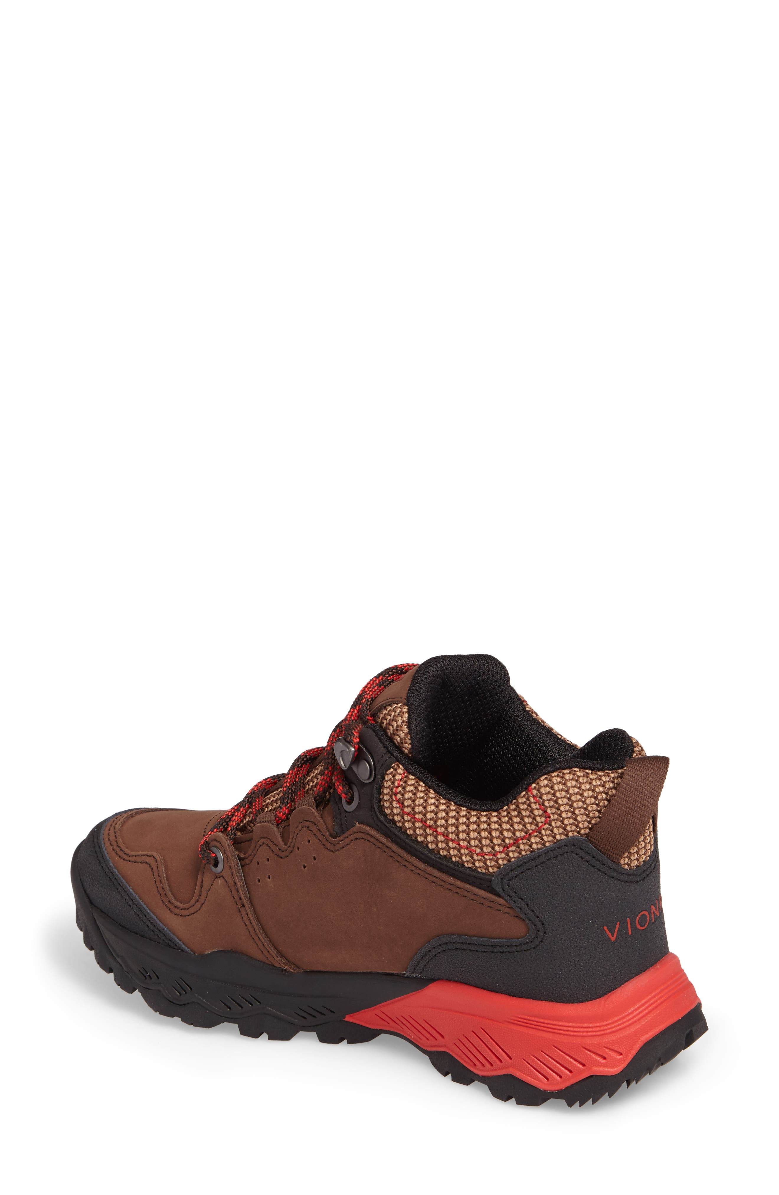 Everett Hiking Shoe,                             Alternate thumbnail 2, color,                             Brown / Red Leather