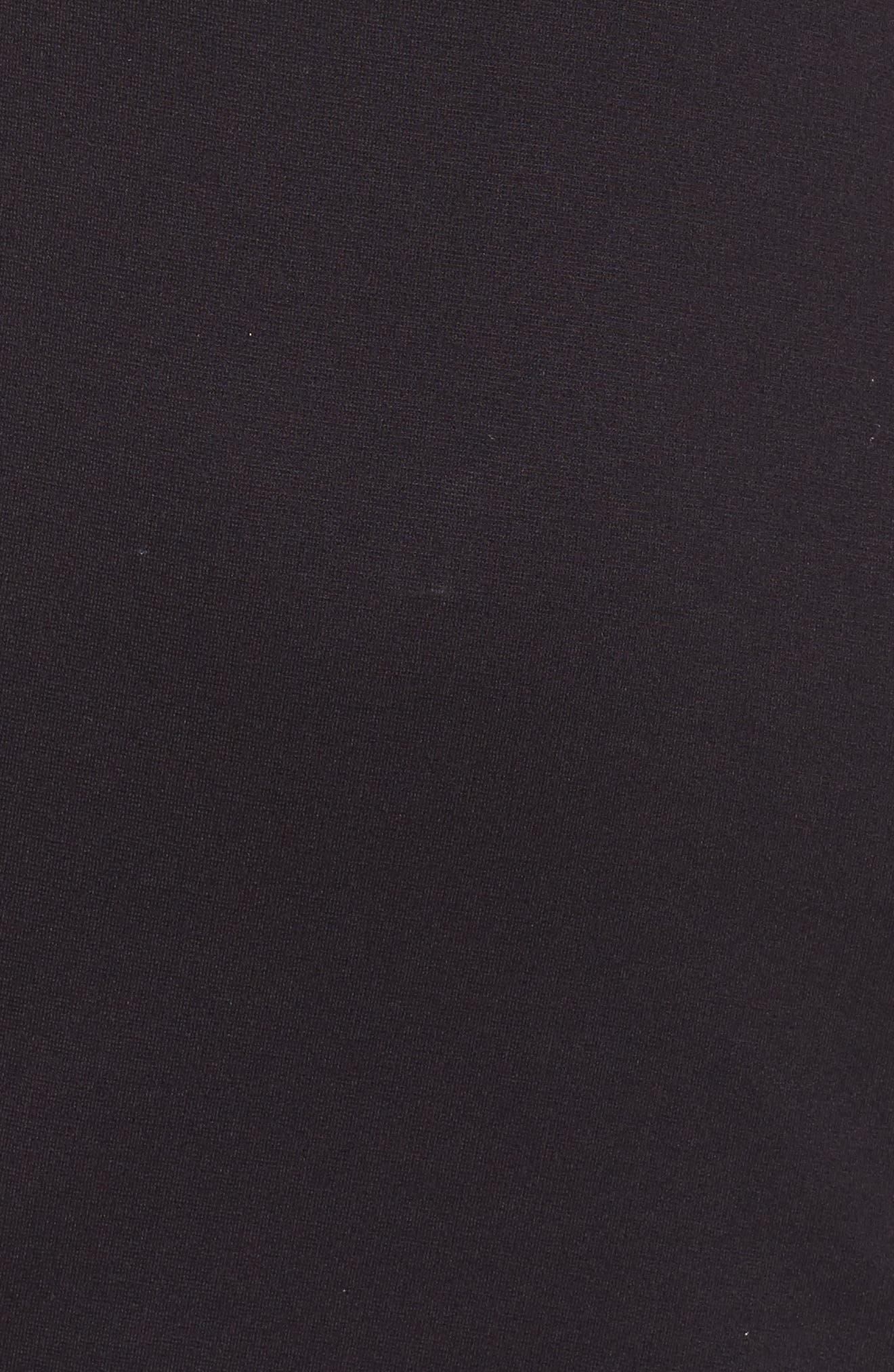 Flutter Sleeve Sheath Dress,                             Alternate thumbnail 5, color,                             Black