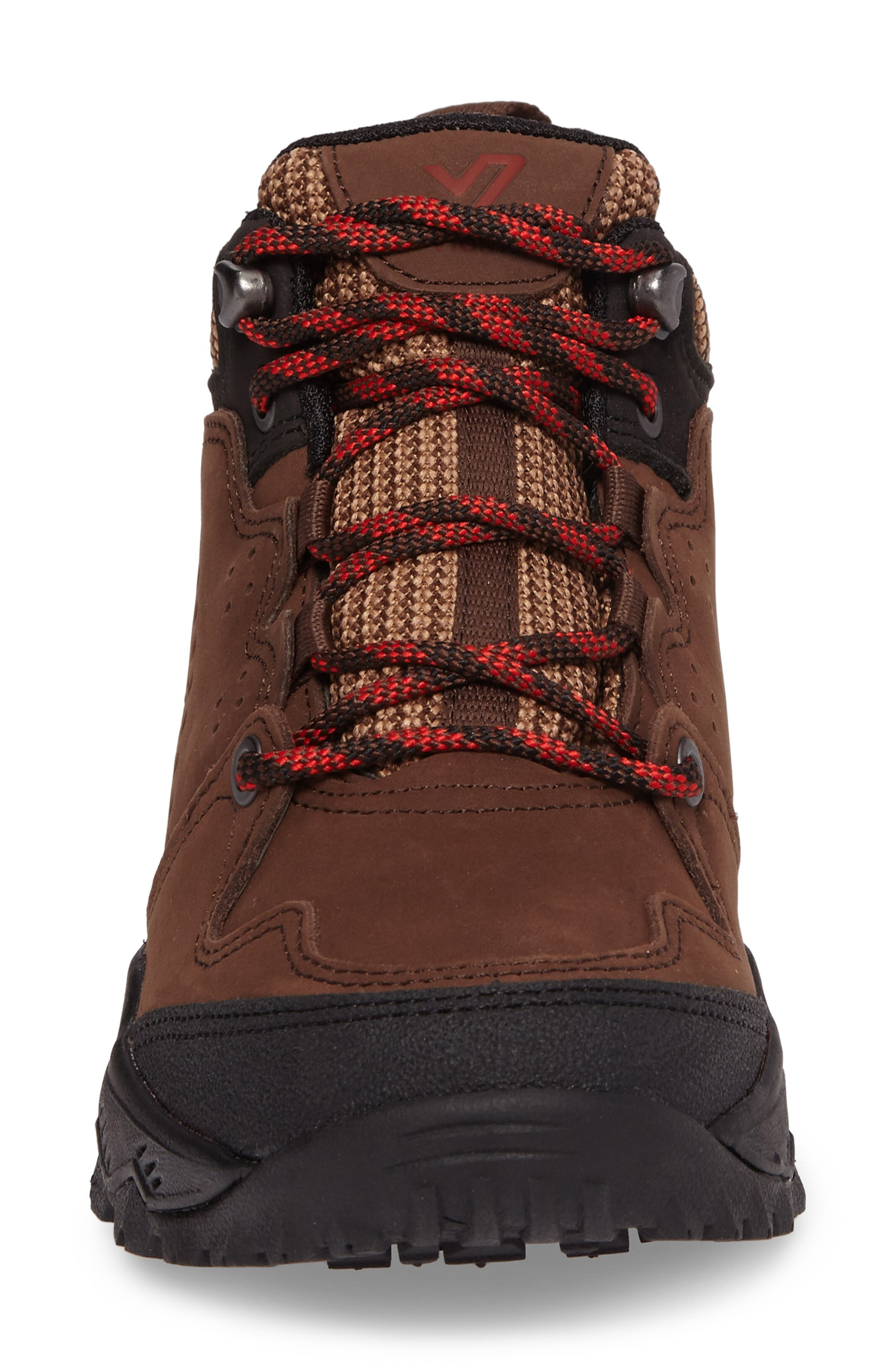 Everett Hiking Shoe,                             Alternate thumbnail 4, color,                             Brown / Red Leather