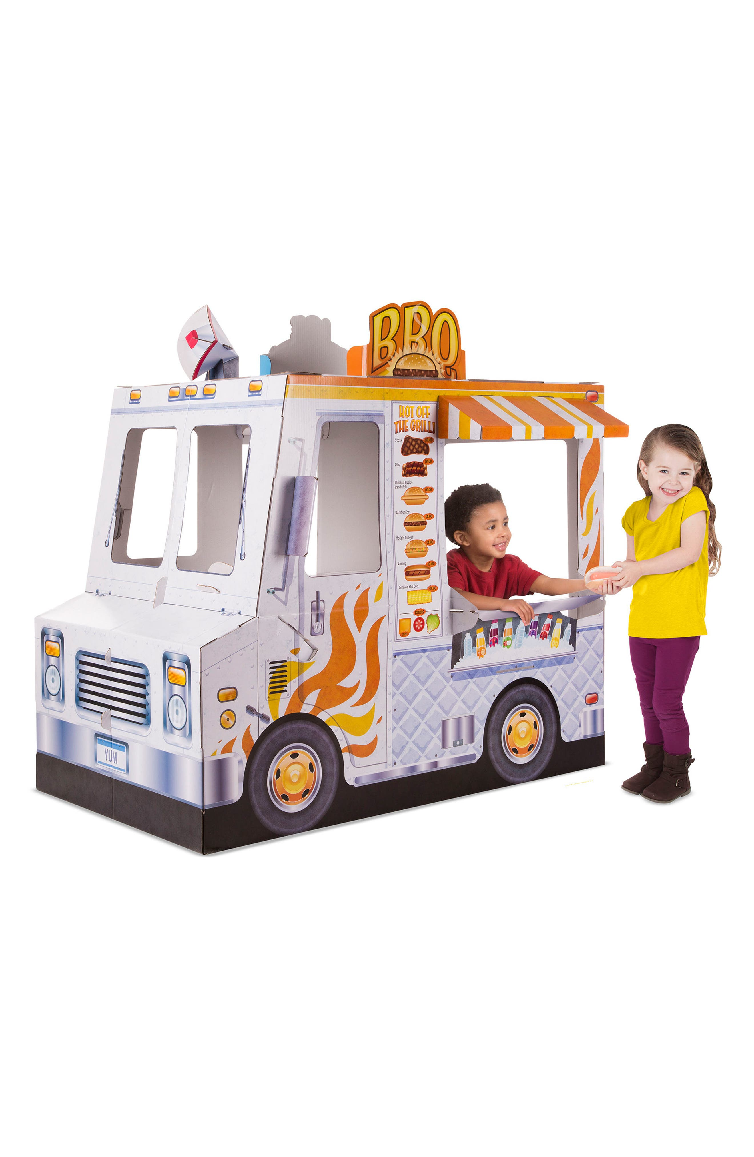 Ice Cream & Food Truck Indoor Playhouse,                             Alternate thumbnail 3, color,                             White