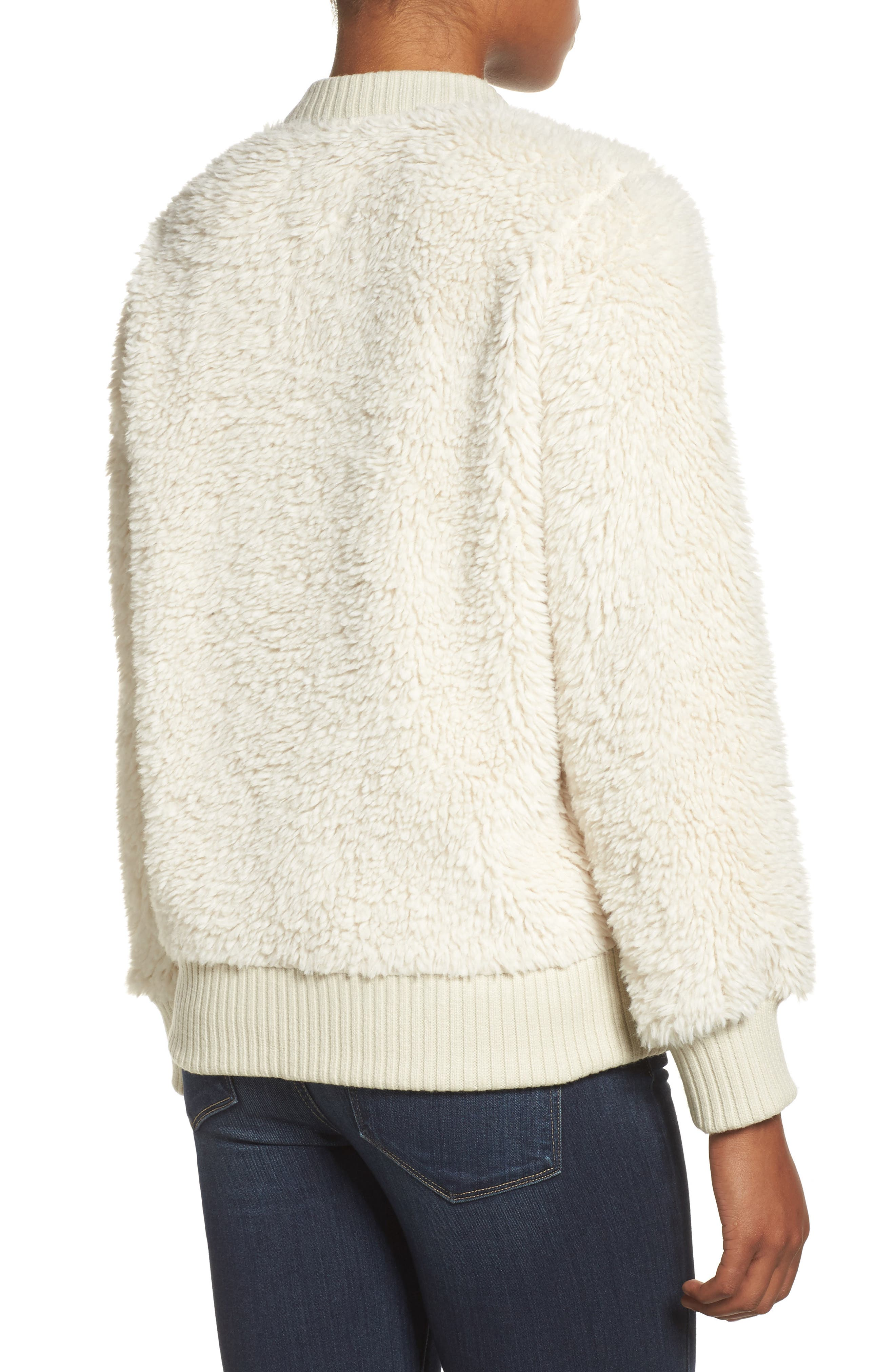 Shawmut High Pile DRYRIDE Thermex Fleece Jacket,                             Alternate thumbnail 2, color,                             Bone White