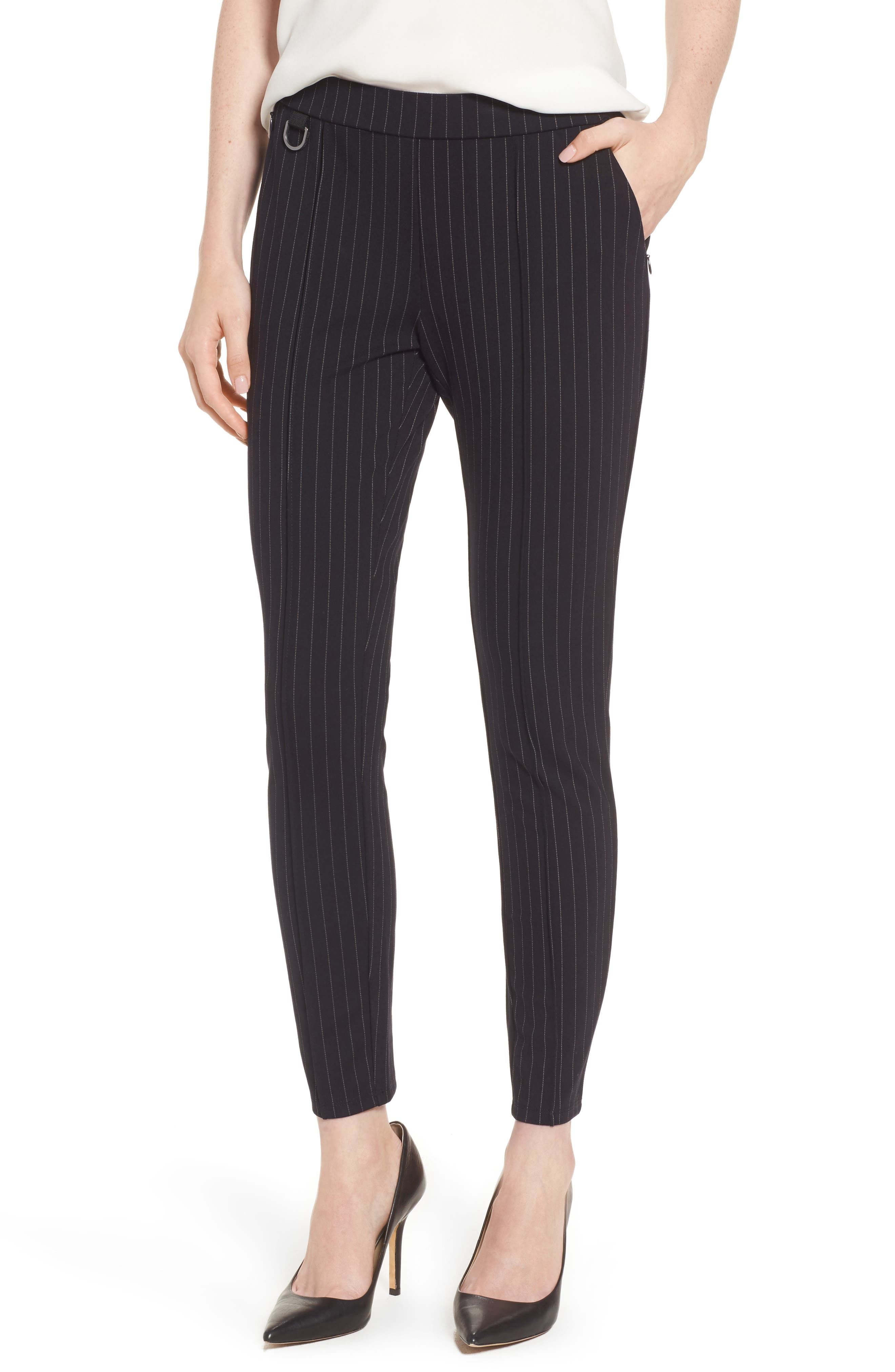 Alternate Image 1 Selected - Kenneth Cole New York Pinstripe Leggings