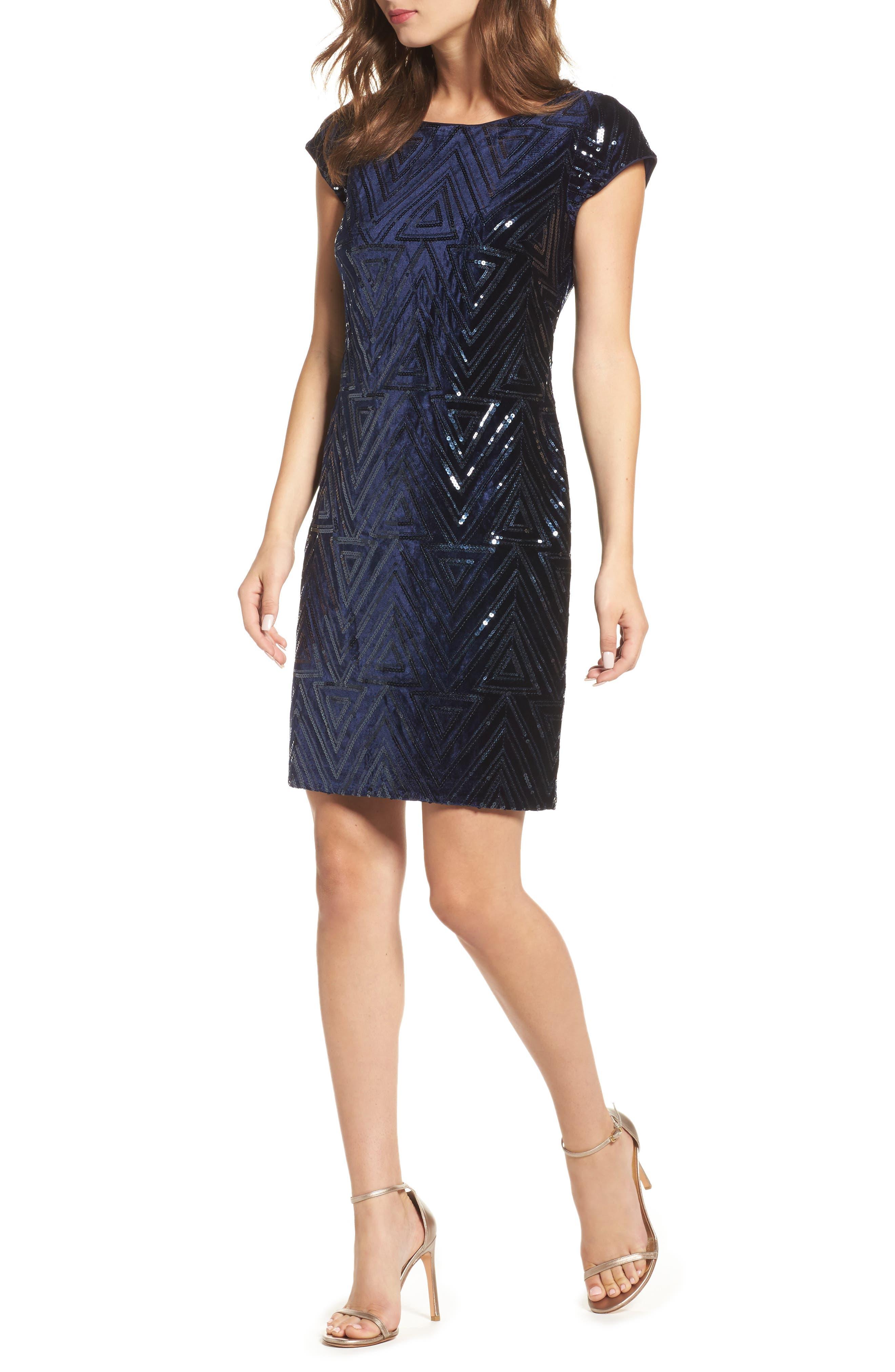 Main Image - Eliza J Sequin Sheath Dress (Regular & Petite)