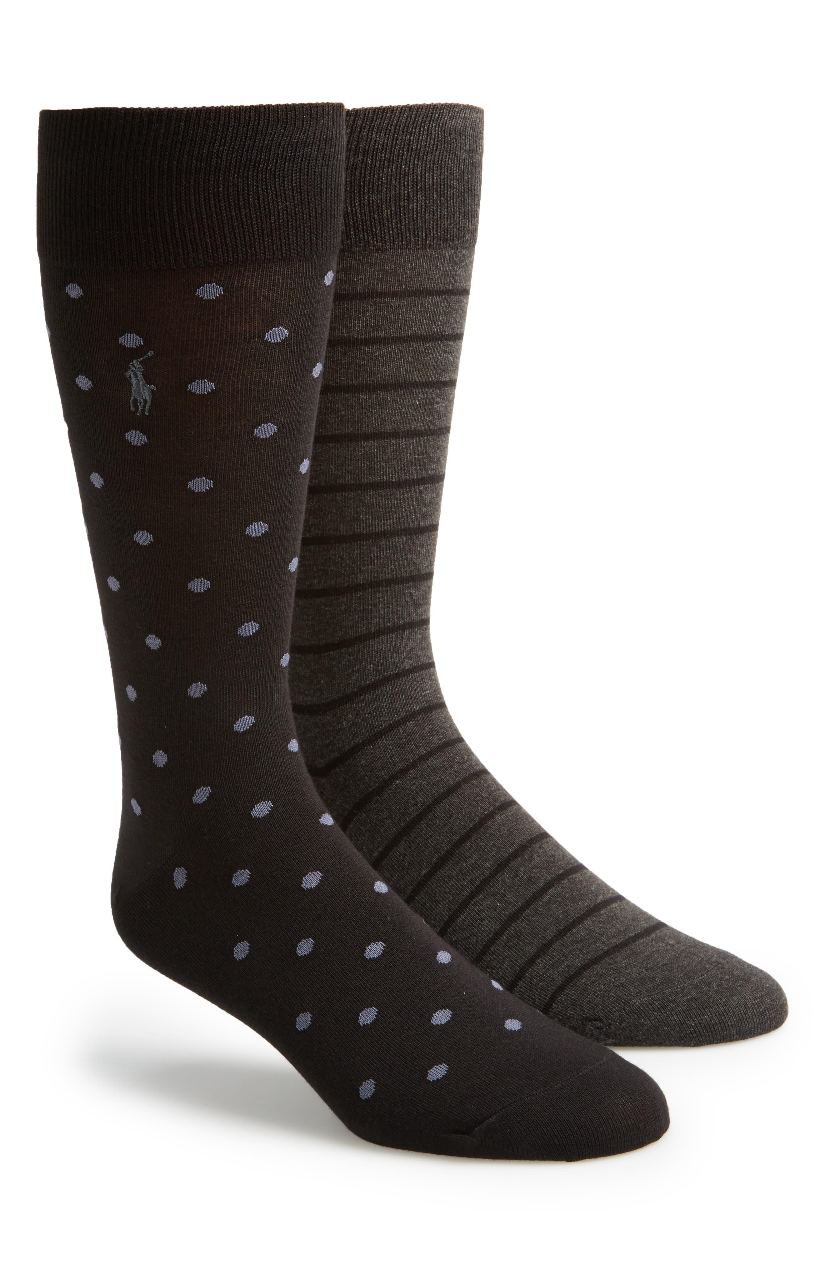 2-Pack Socks,                         Main,                         color, Charcoal