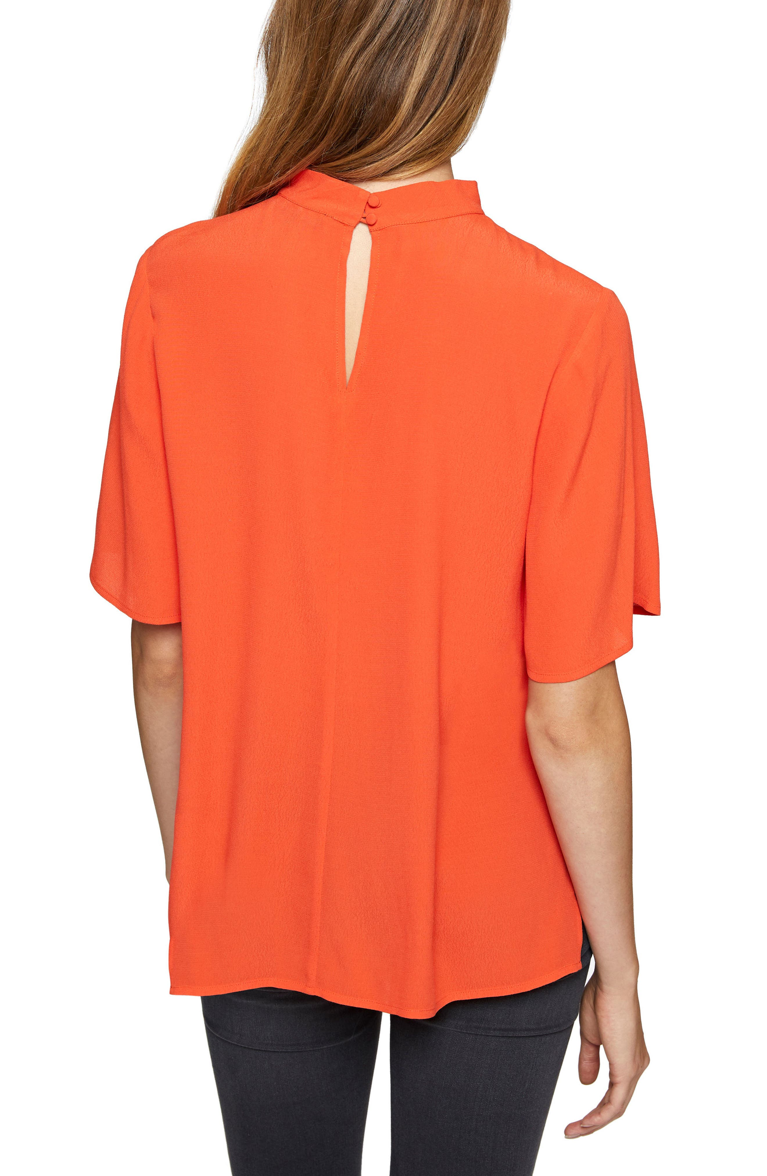 Rosie Choker Tee,                             Alternate thumbnail 2, color,                             Orange Lacquer