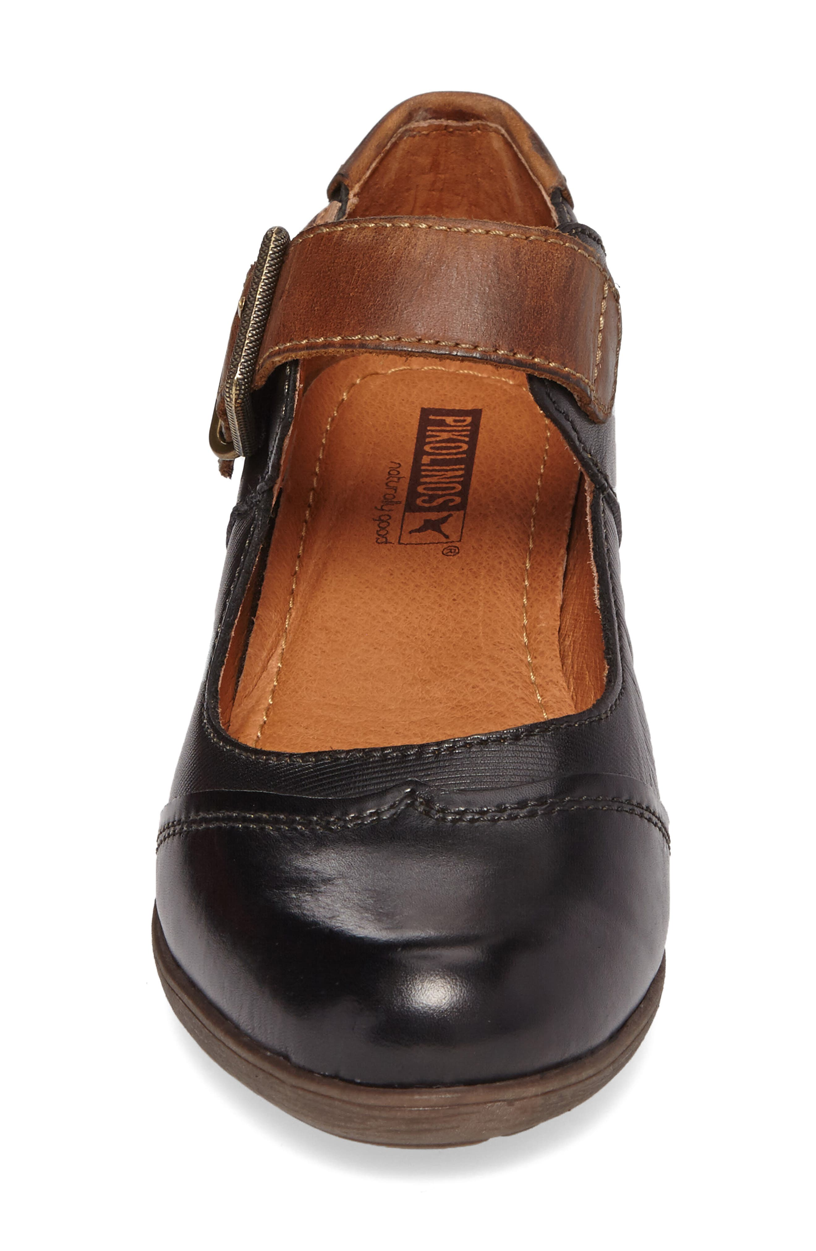 Rotterdam Water Resistant Mary Jane Pump,                             Alternate thumbnail 3, color,                             Black Leather
