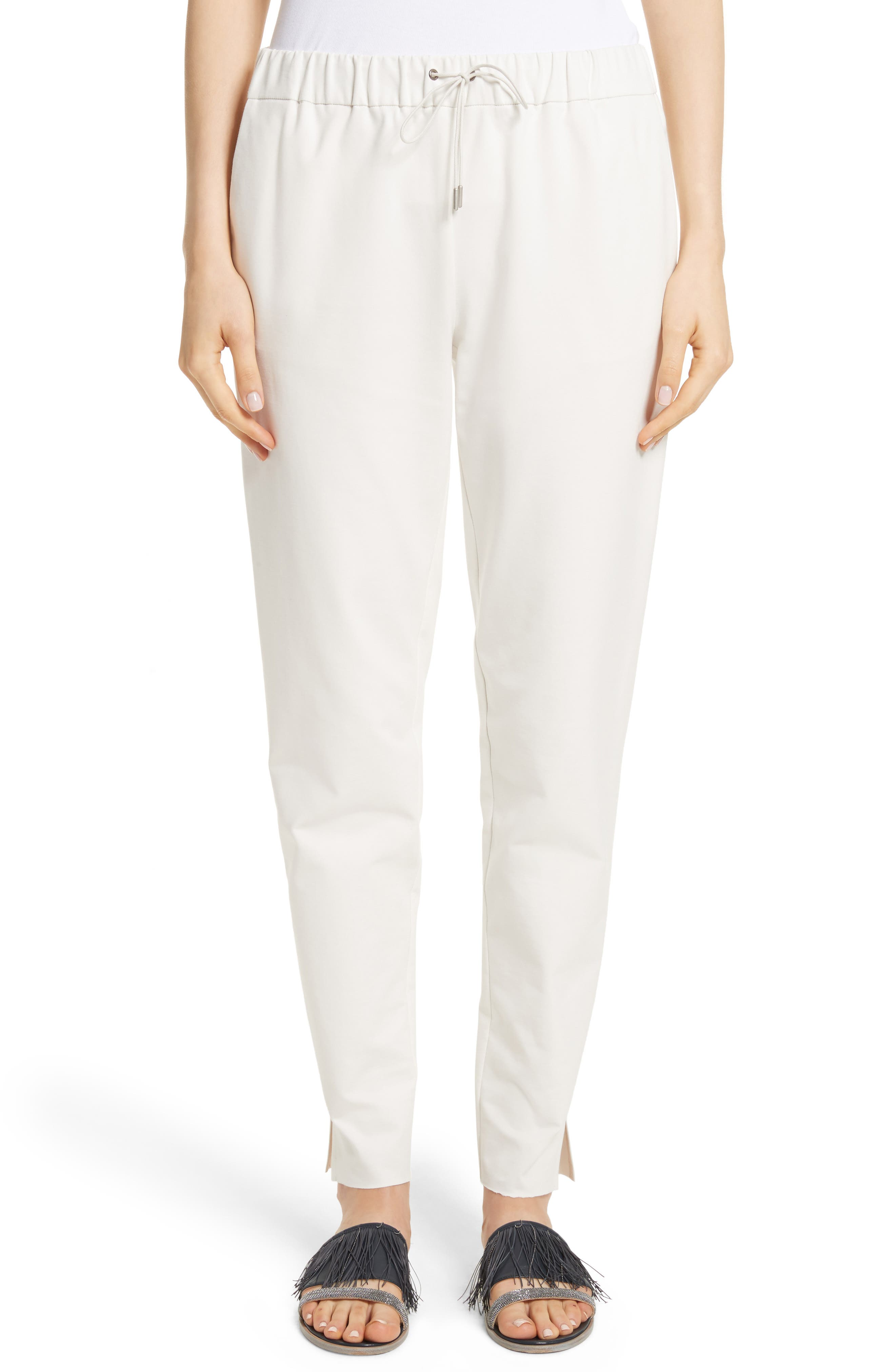 Rodier Jersey Joggers,                             Main thumbnail 1, color,                             Ivory