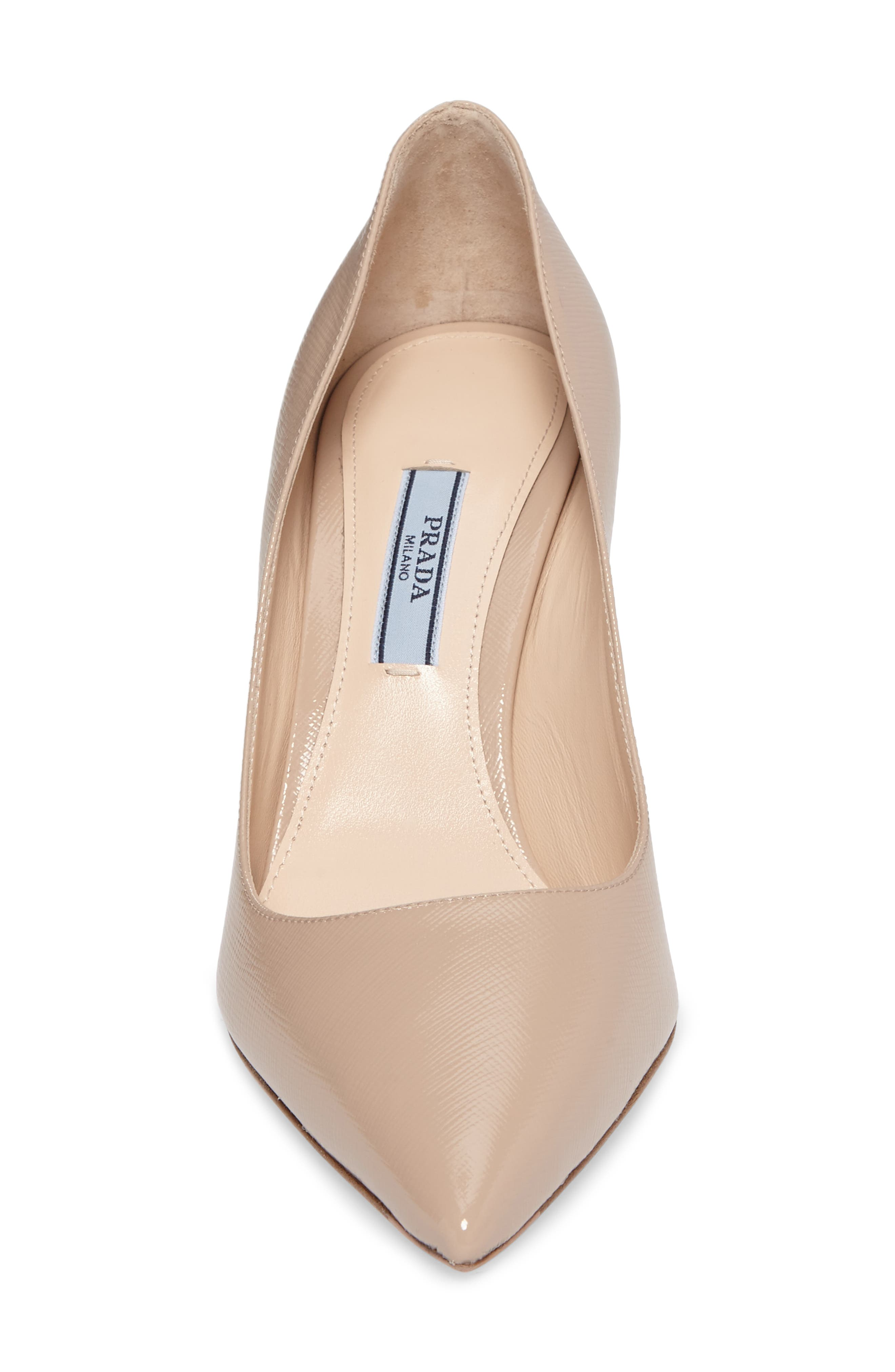 Pointy Toe Pump,                             Alternate thumbnail 5, color,                             Cipria