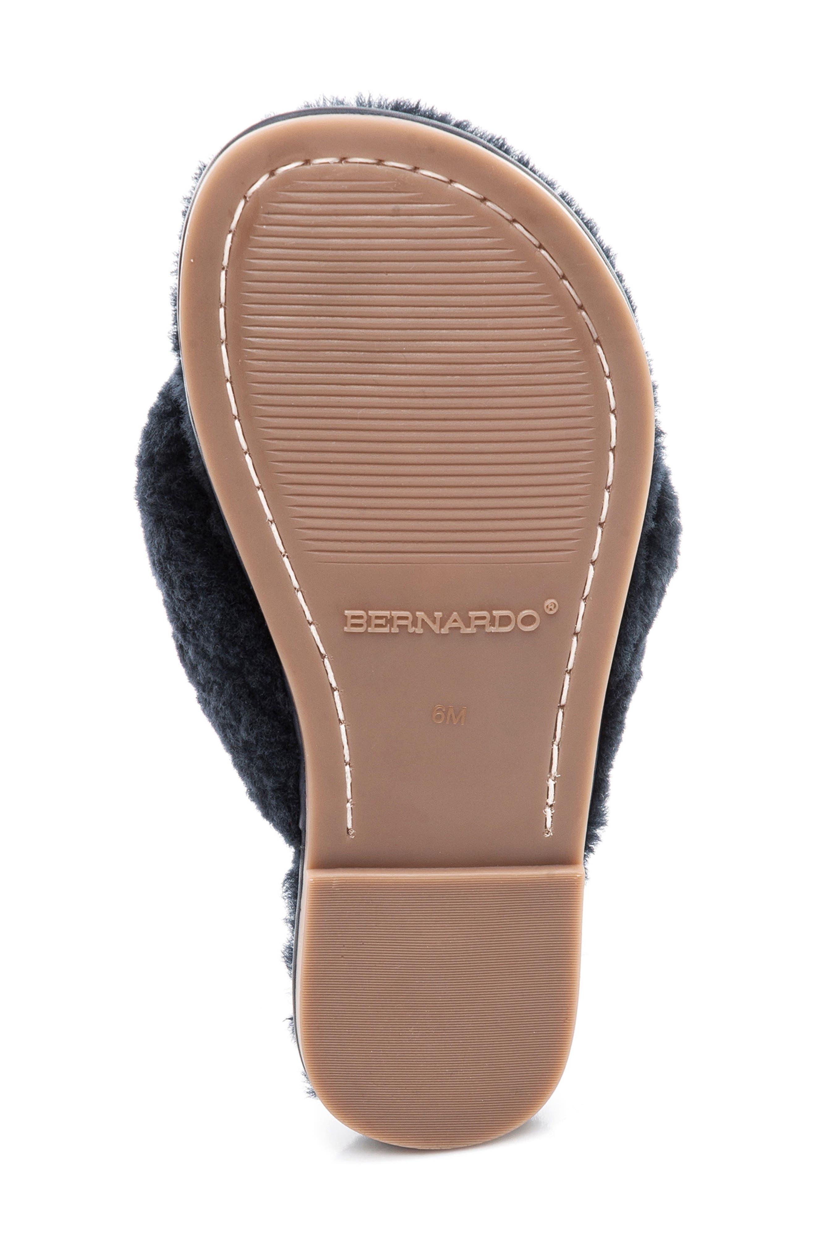 Bernardo Miami Genuine Shaerling Flip Flop,                             Alternate thumbnail 6, color,                             Navy Shearling
