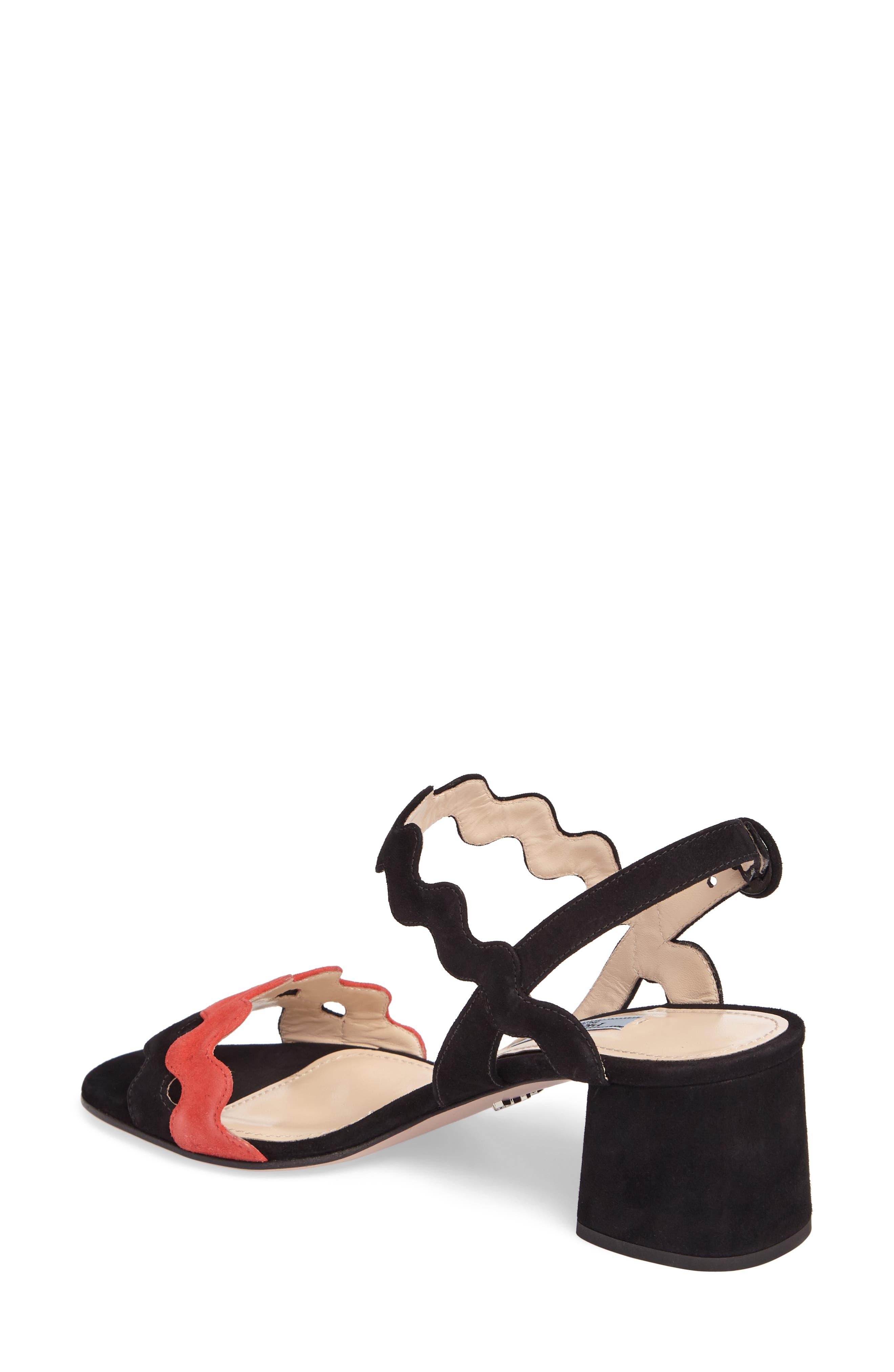 Alternate Image 2  - Prada Double Strap Wave Sandal (Women)