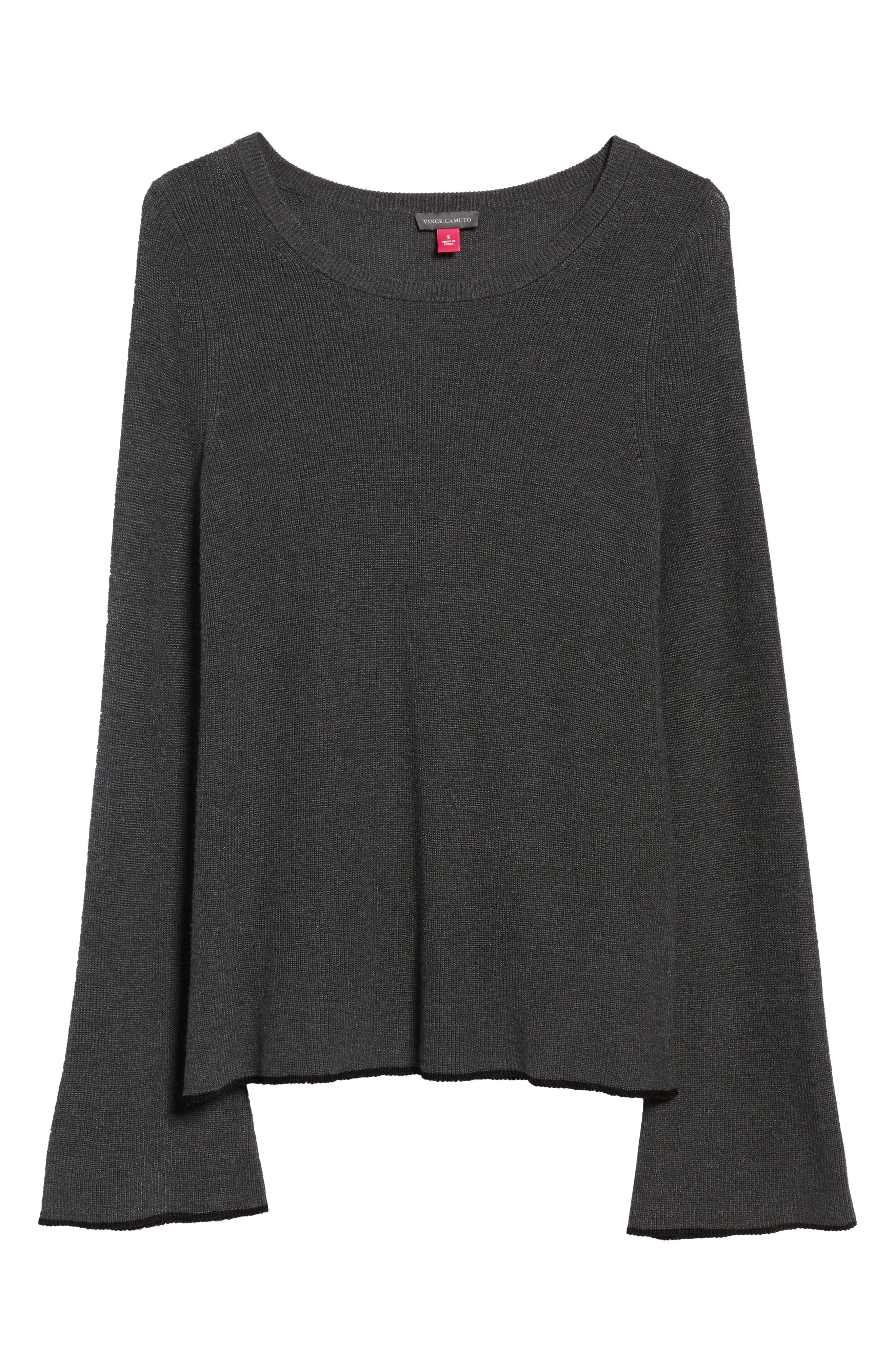 Alternate Image 6  - Vince Camuto Tipped Bell Sleeve Sweater (Regular & Petite)