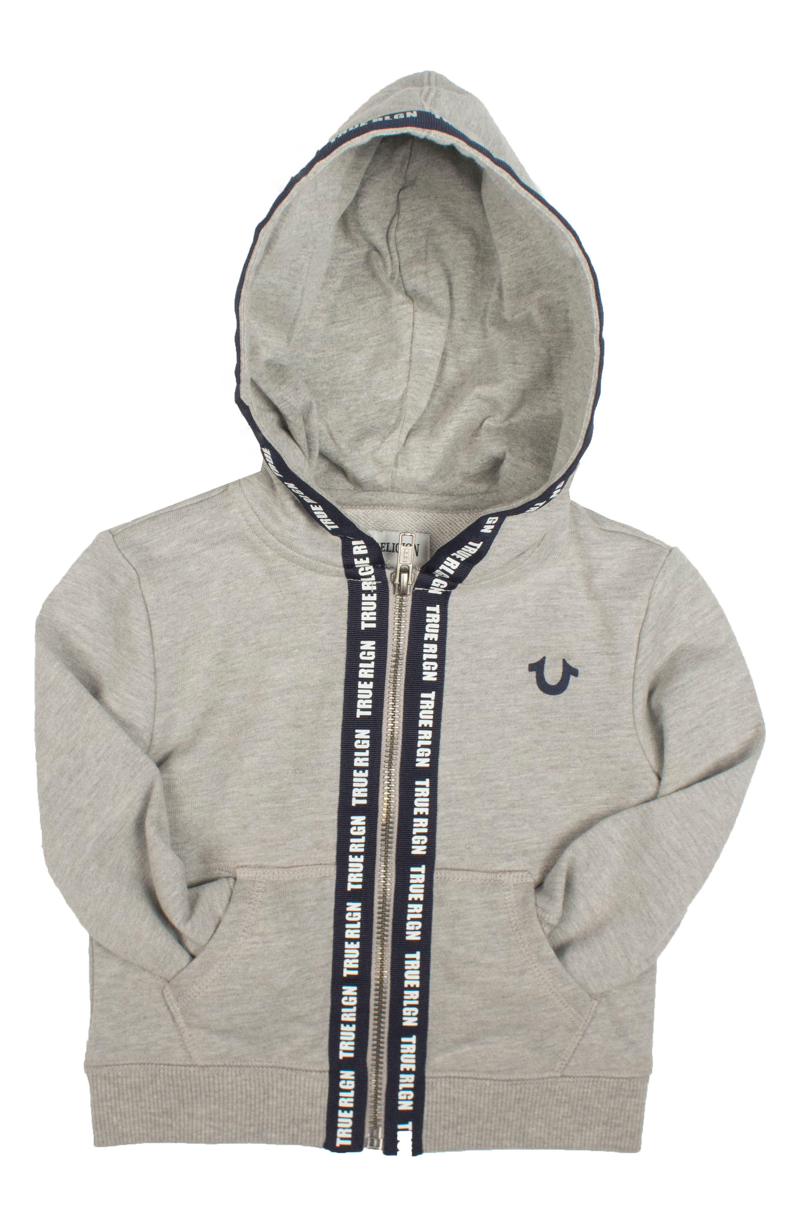 Alternate Image 1 Selected - True Religion Brand Jeans Tape Zip Hoodie (Big Boys)
