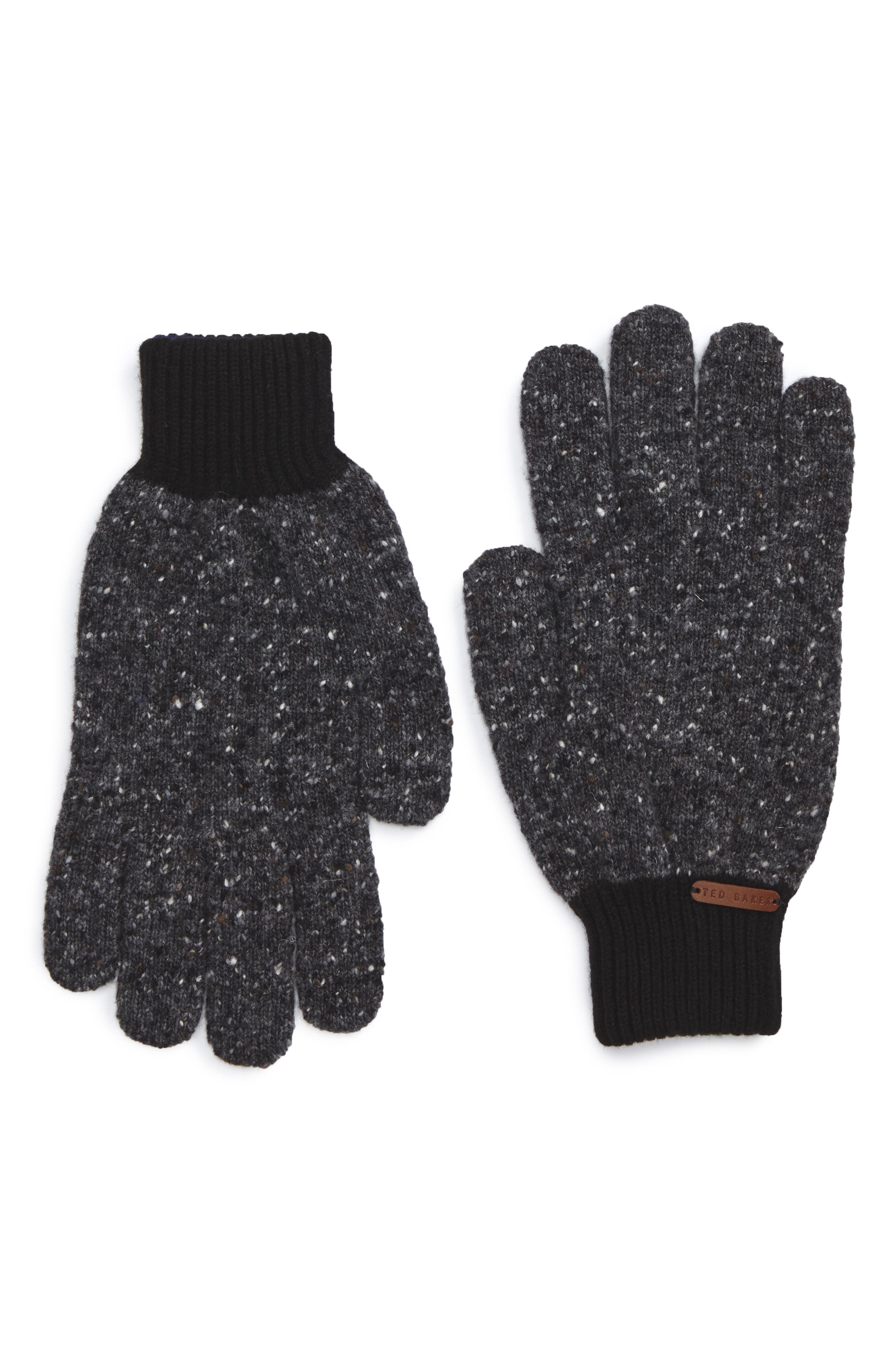 Oakglo Wool Blend Gloves,                             Main thumbnail 1, color,                             Charcoal