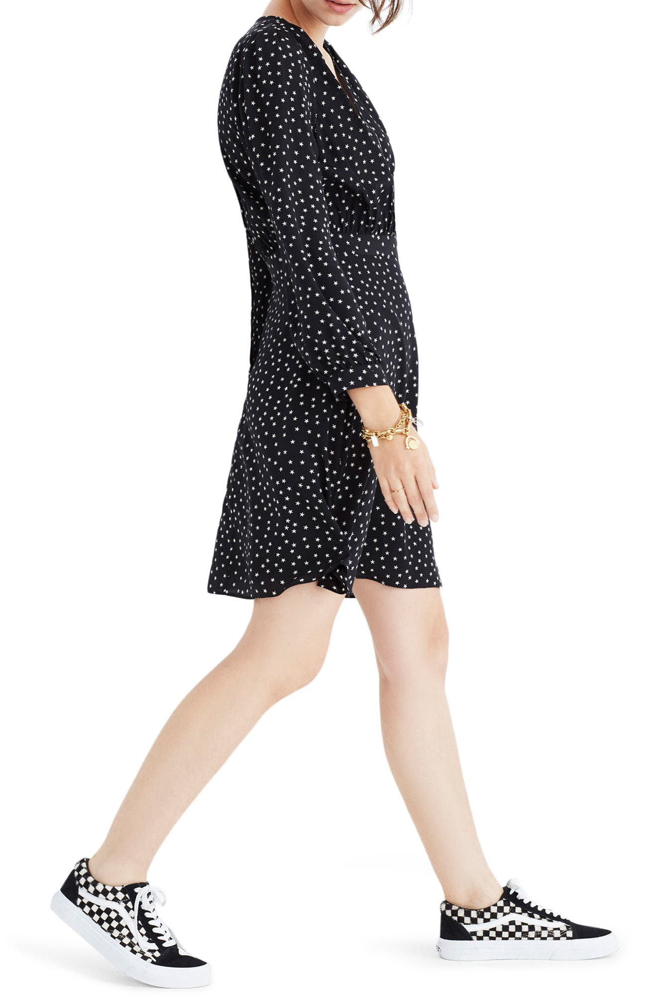 Alternate Image 3  - Madewell Star Print Silk A-Line Dress